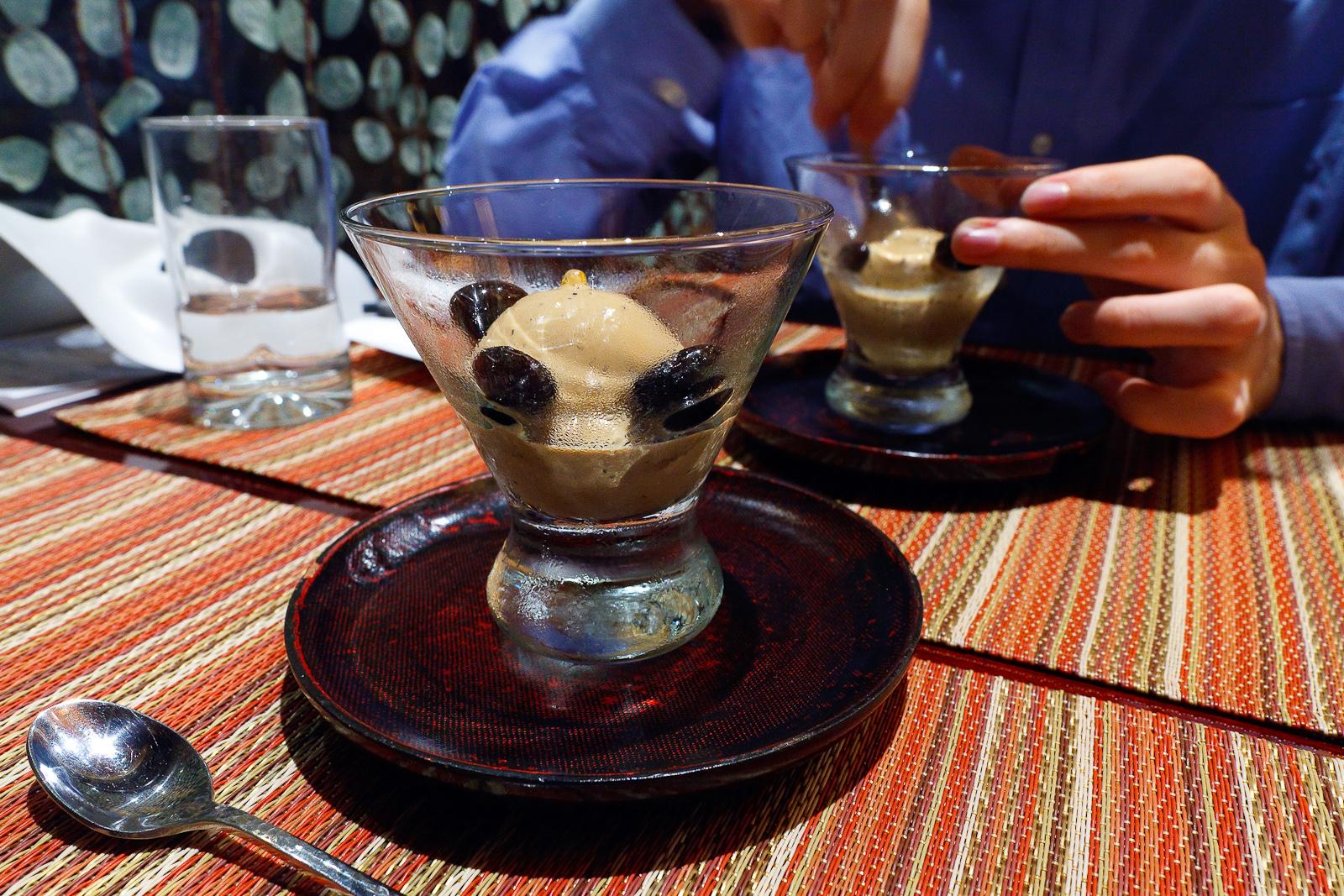 Hojicha (roasted green tea) ice cream