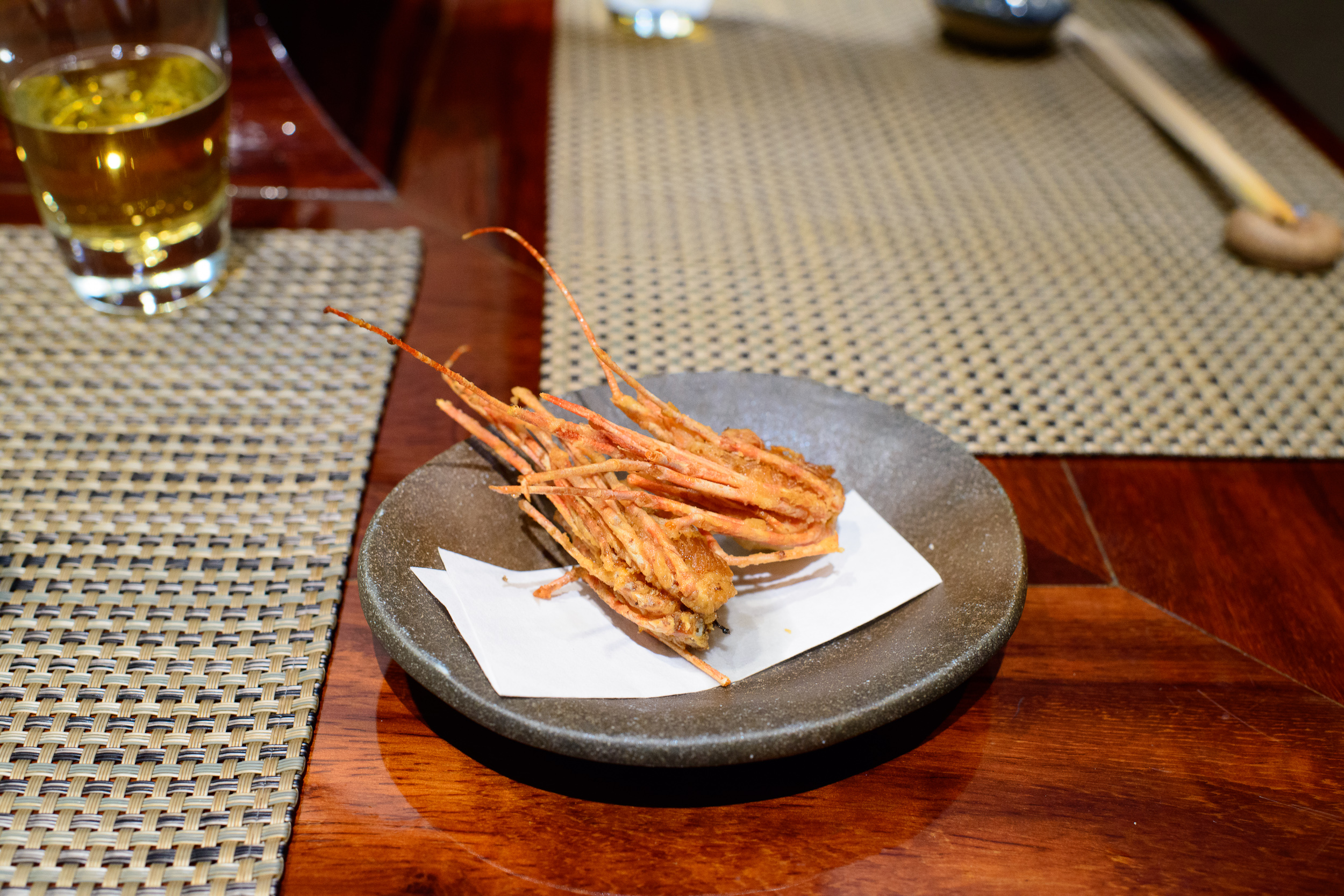 7th Course: Crispy shrimp head