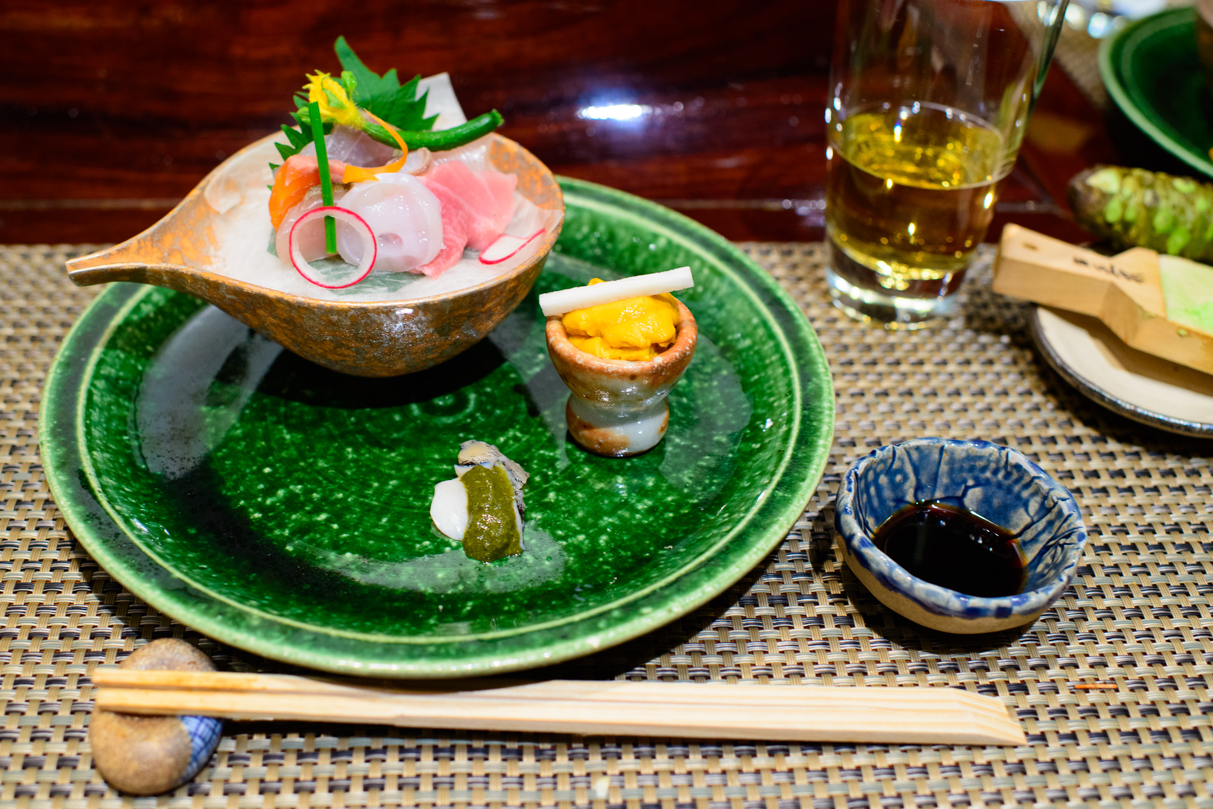 """8th Course: """"Otsukuri"""" sashimi of the day"""
