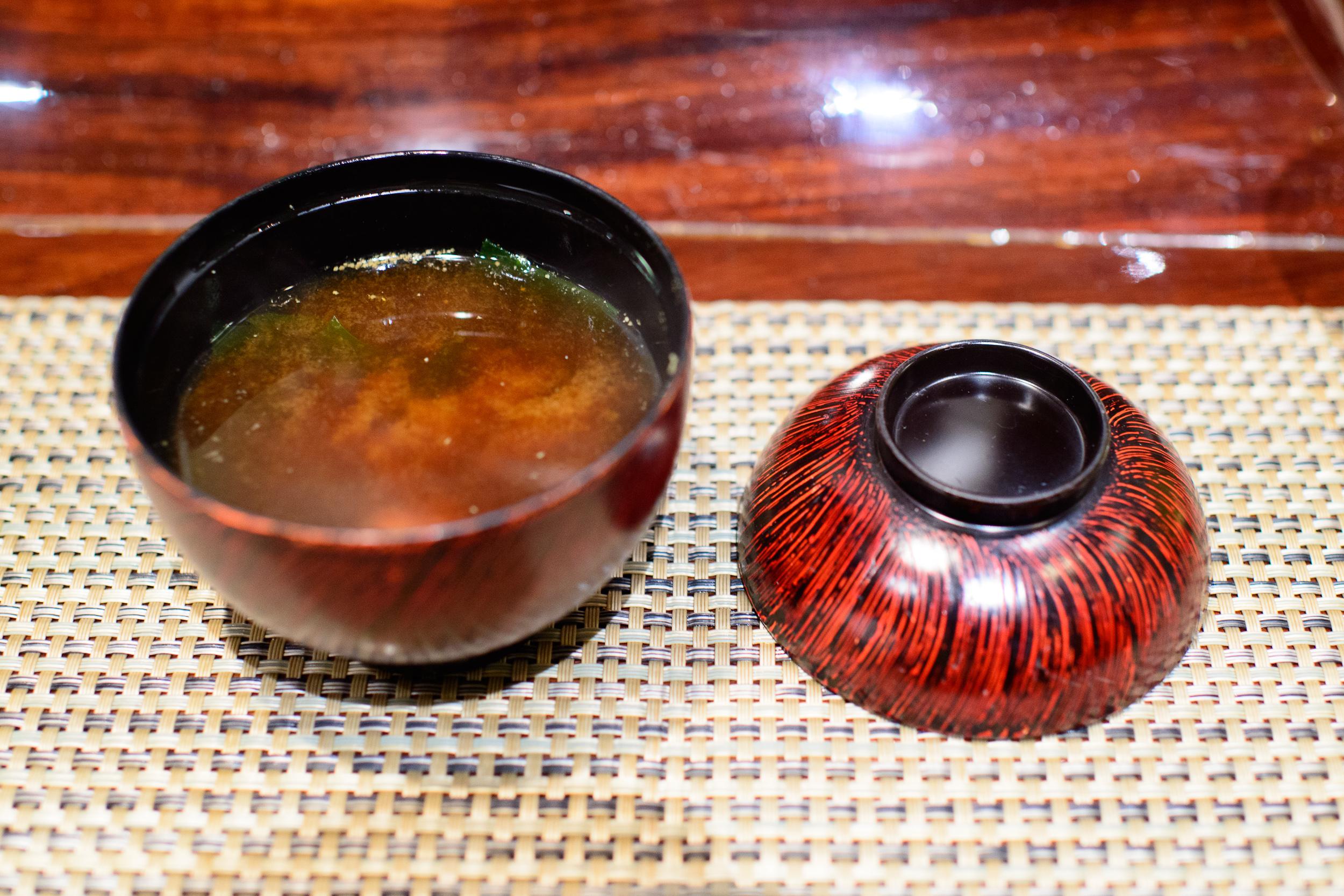 14th Course: Nameko akadashi and pickles