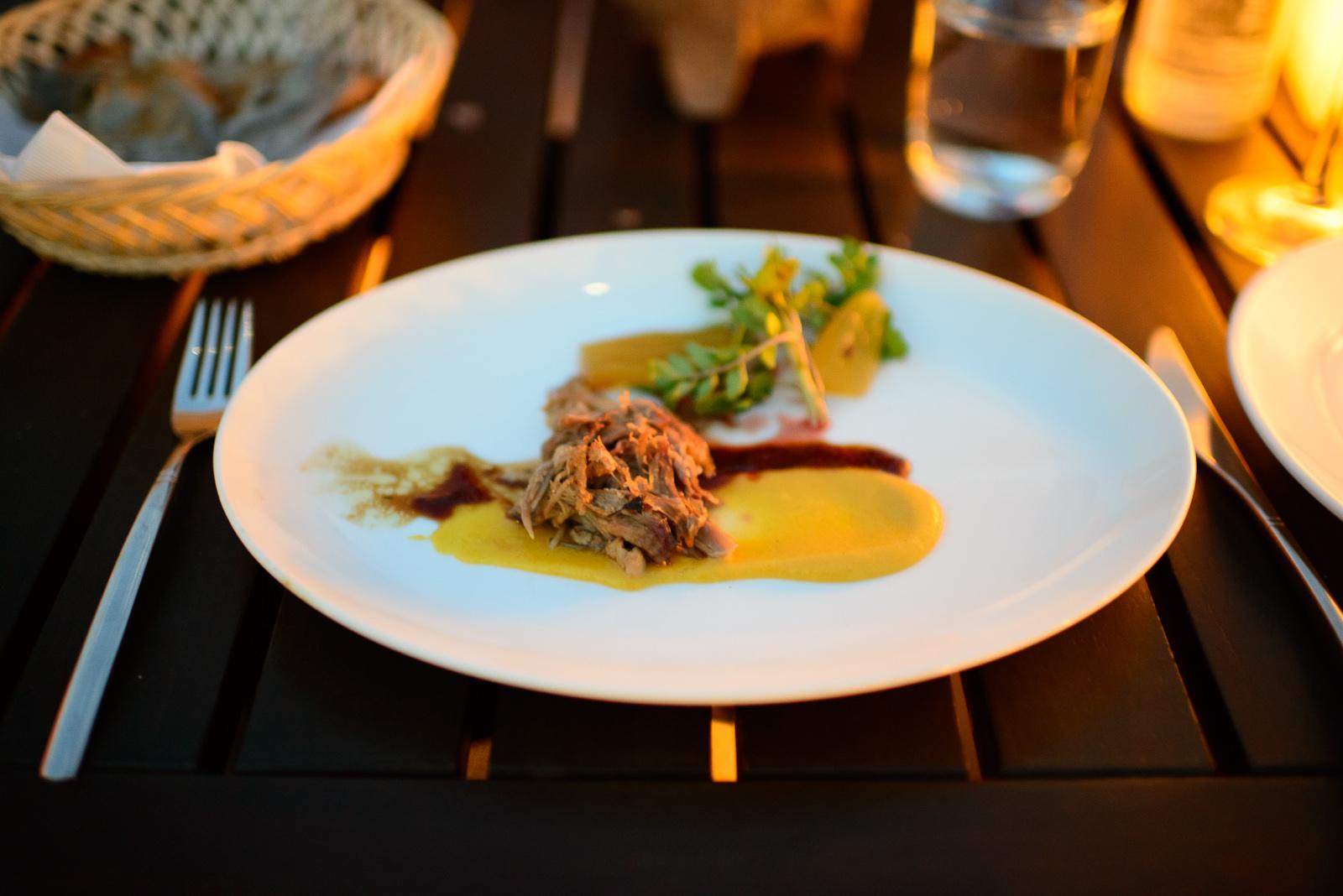 4th Course: Pechuga de pato con salsa de agave (Duck breast in a