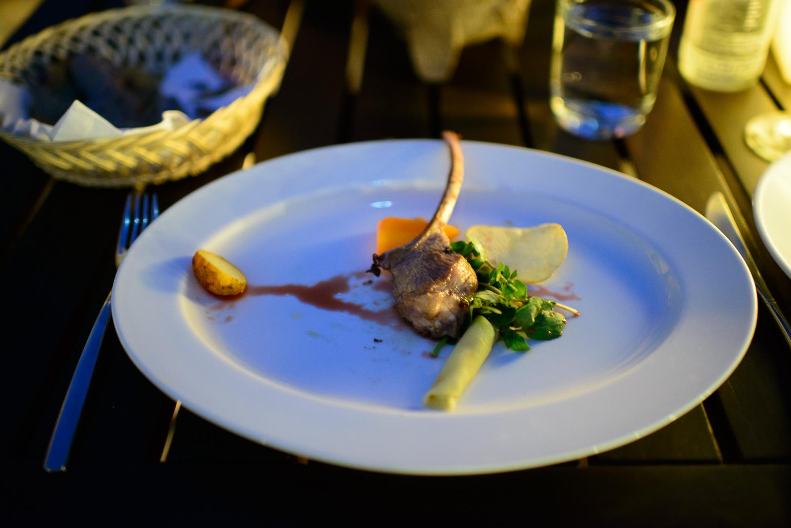 5th Course: Cordero con mojo de pitiona (Lamb in pitiona sauce)