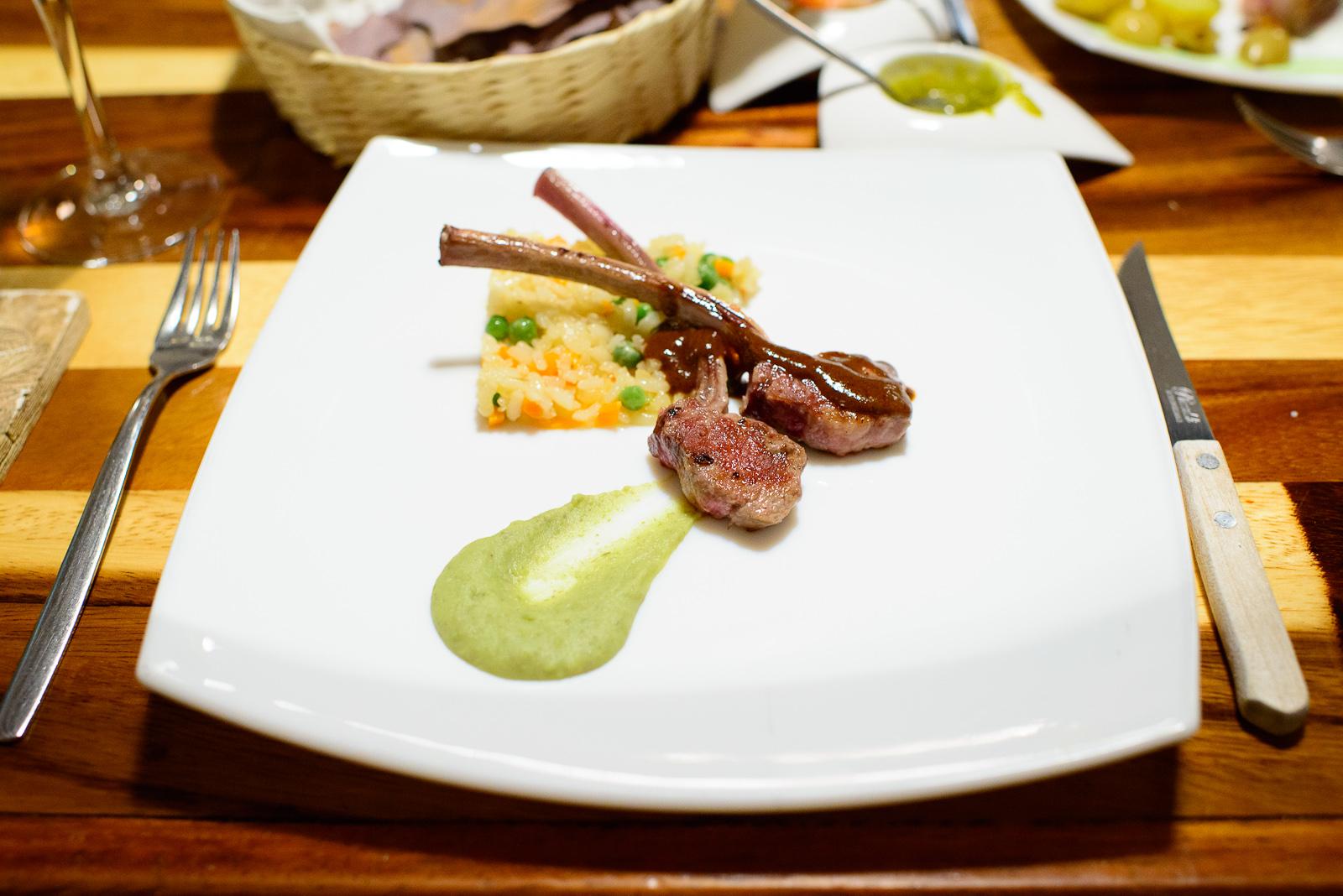 5th Course: Wild pork with coloradito