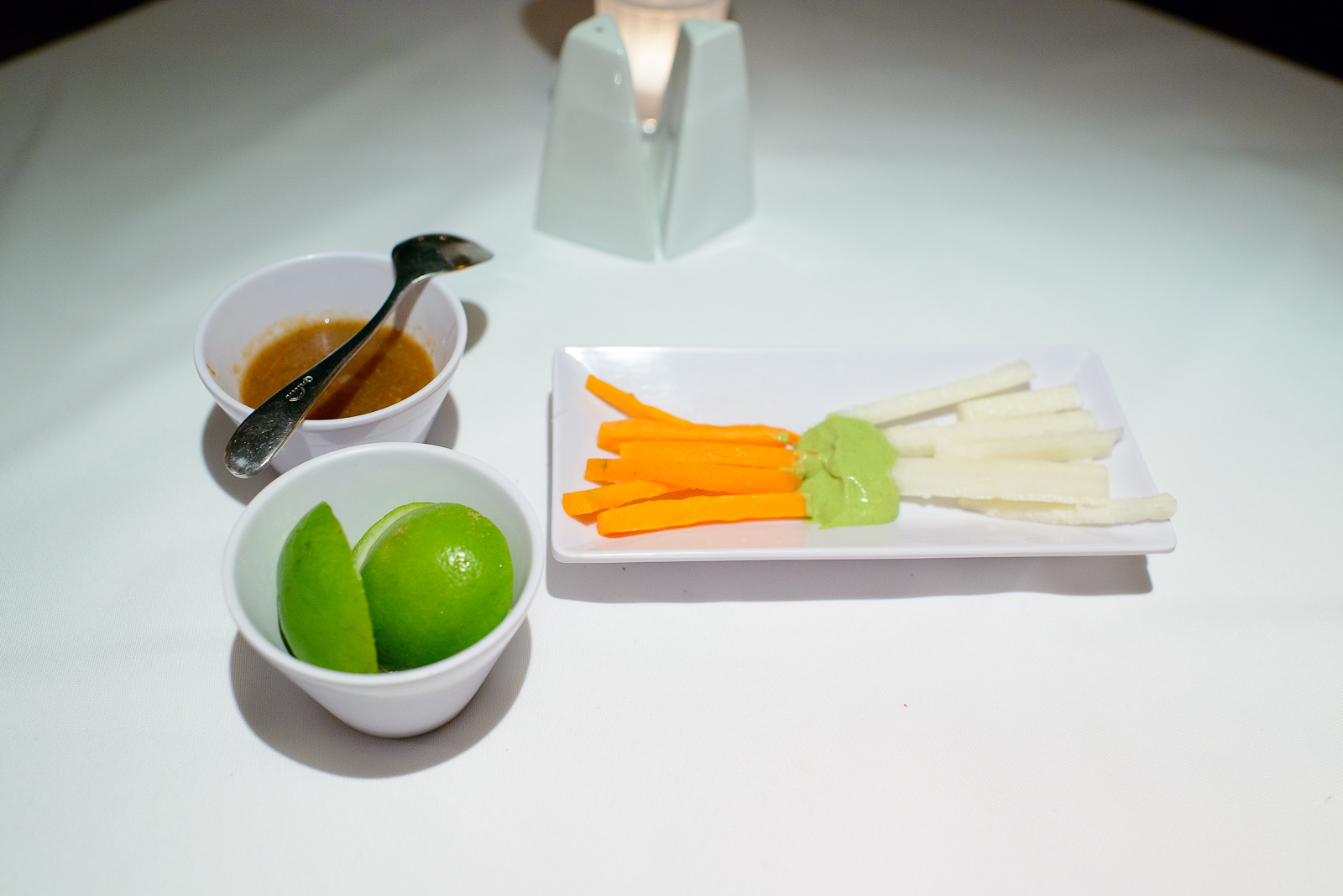 Carrots and Jícama, poblano pepper salsa