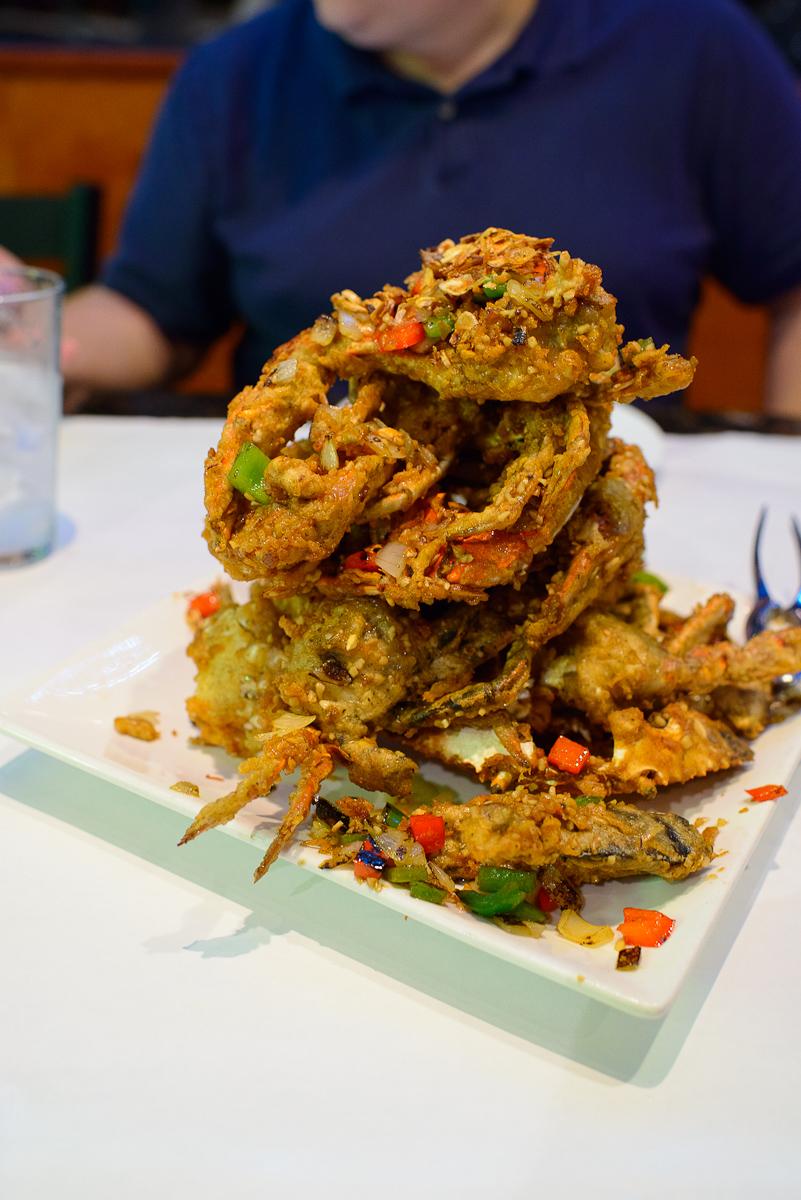Deep-fried dungeness crab