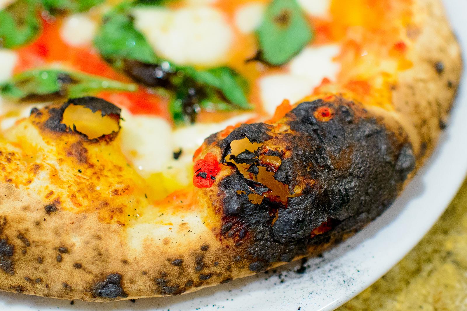 Blister on the Pizza Margherita - San Marzano tomatoes, buffalo