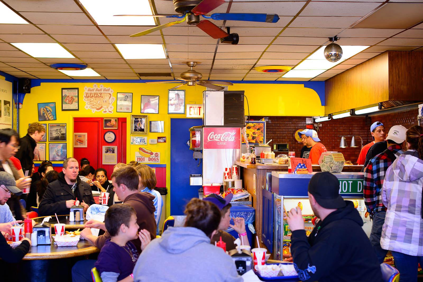 Inside Hot Doug's