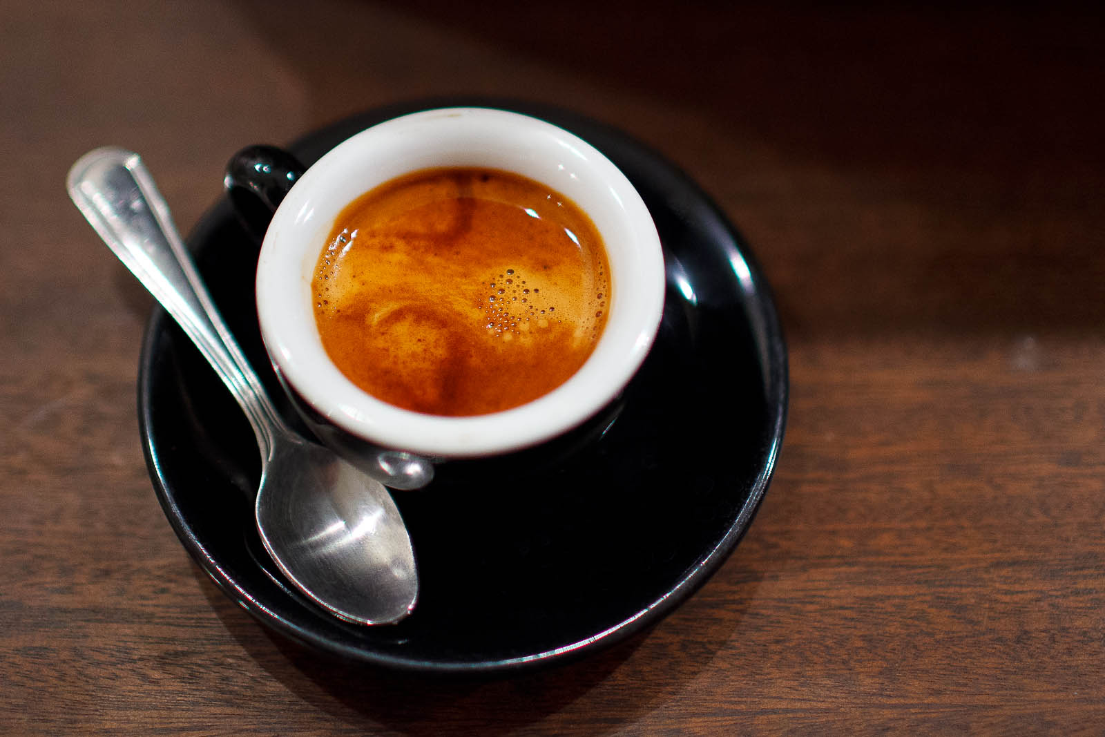 Espresso pulled from Ritual's Erebus blend