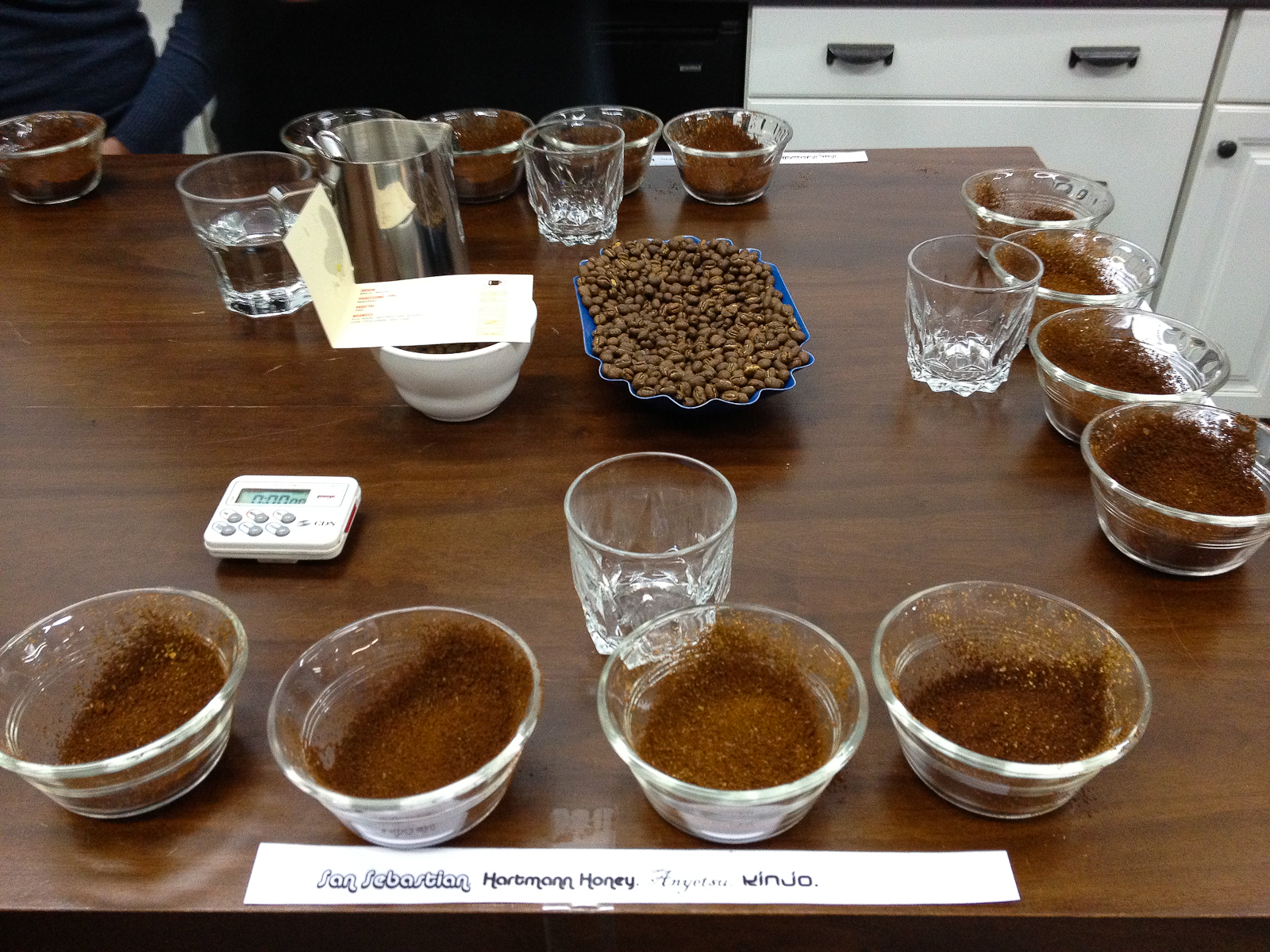 Cupping: San sebastian, Hartmann Honey, Anyetsu, Kinjo
