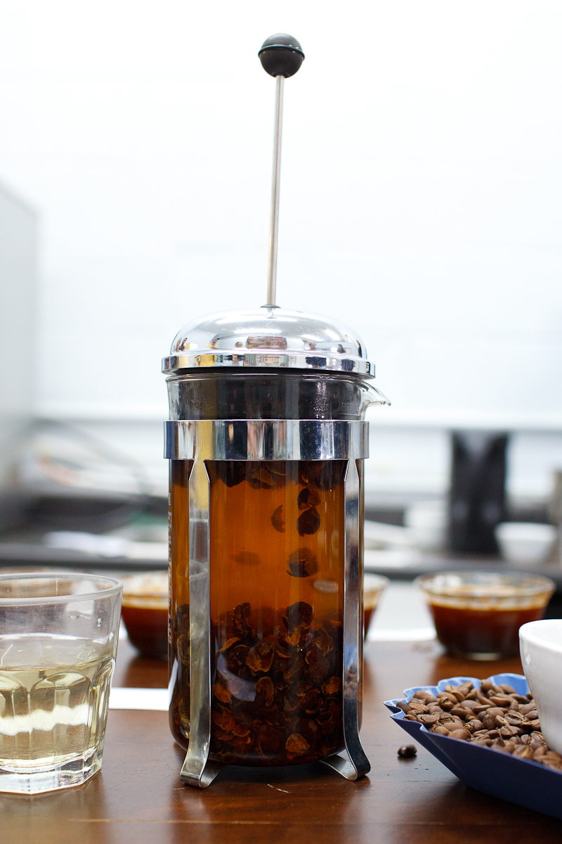 Infusion from coffee cáscaras