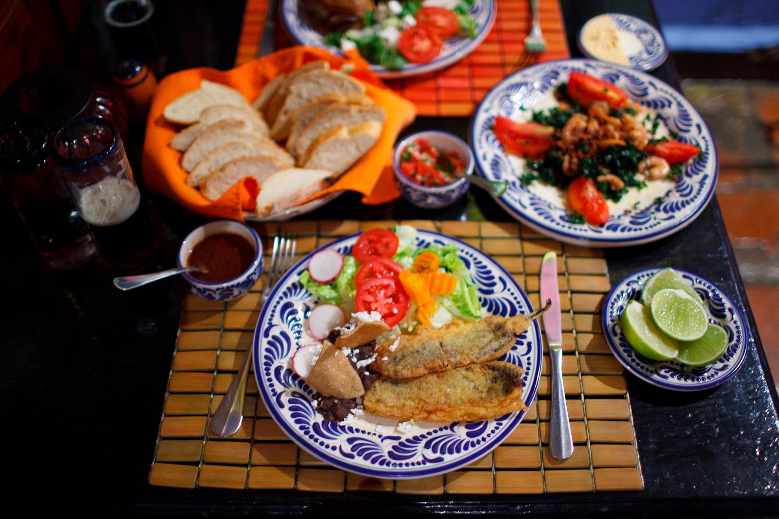 Table of Pueblan delicacies