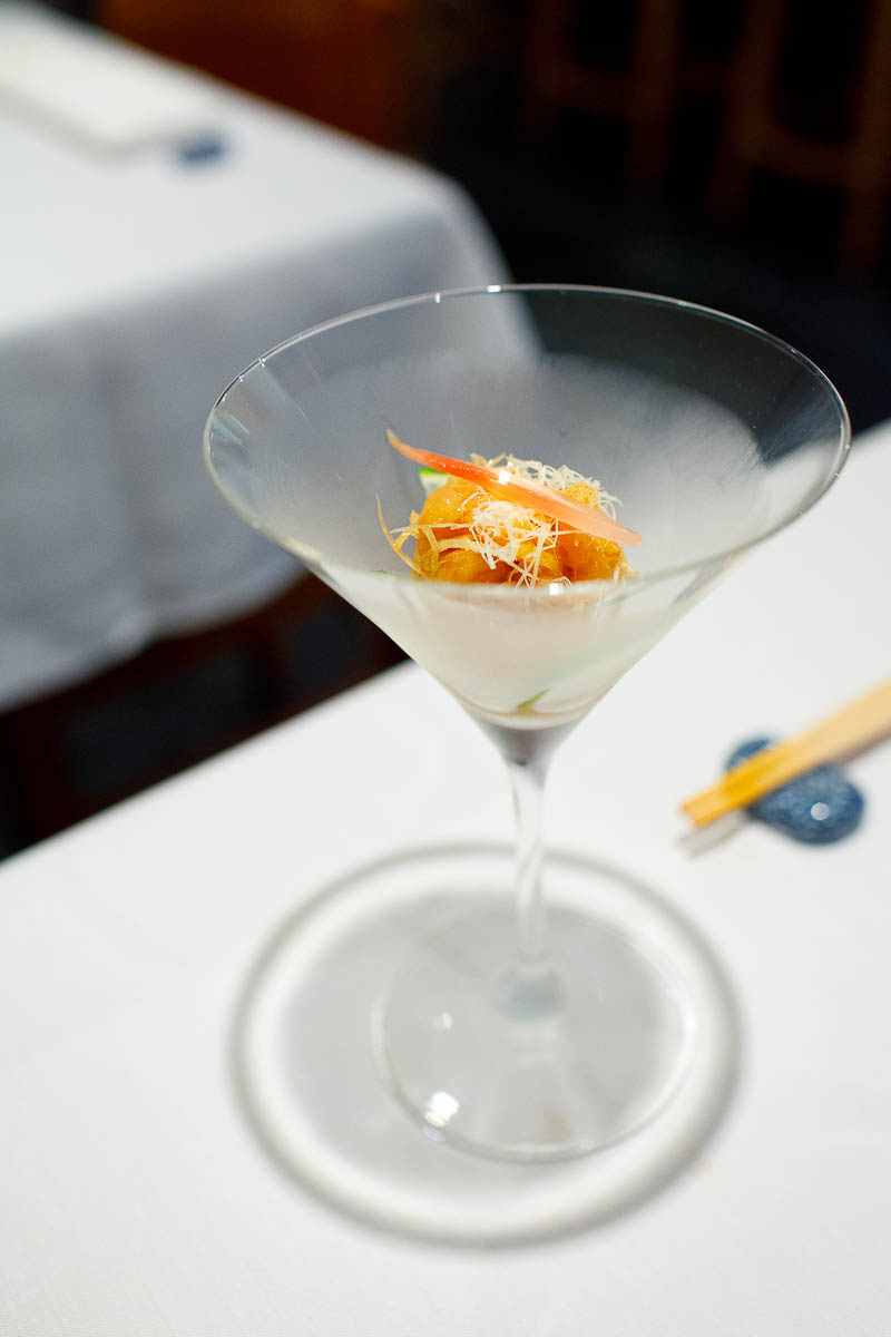 Aoyagi clam cocktail - slived live sea clam marinated in truffle
