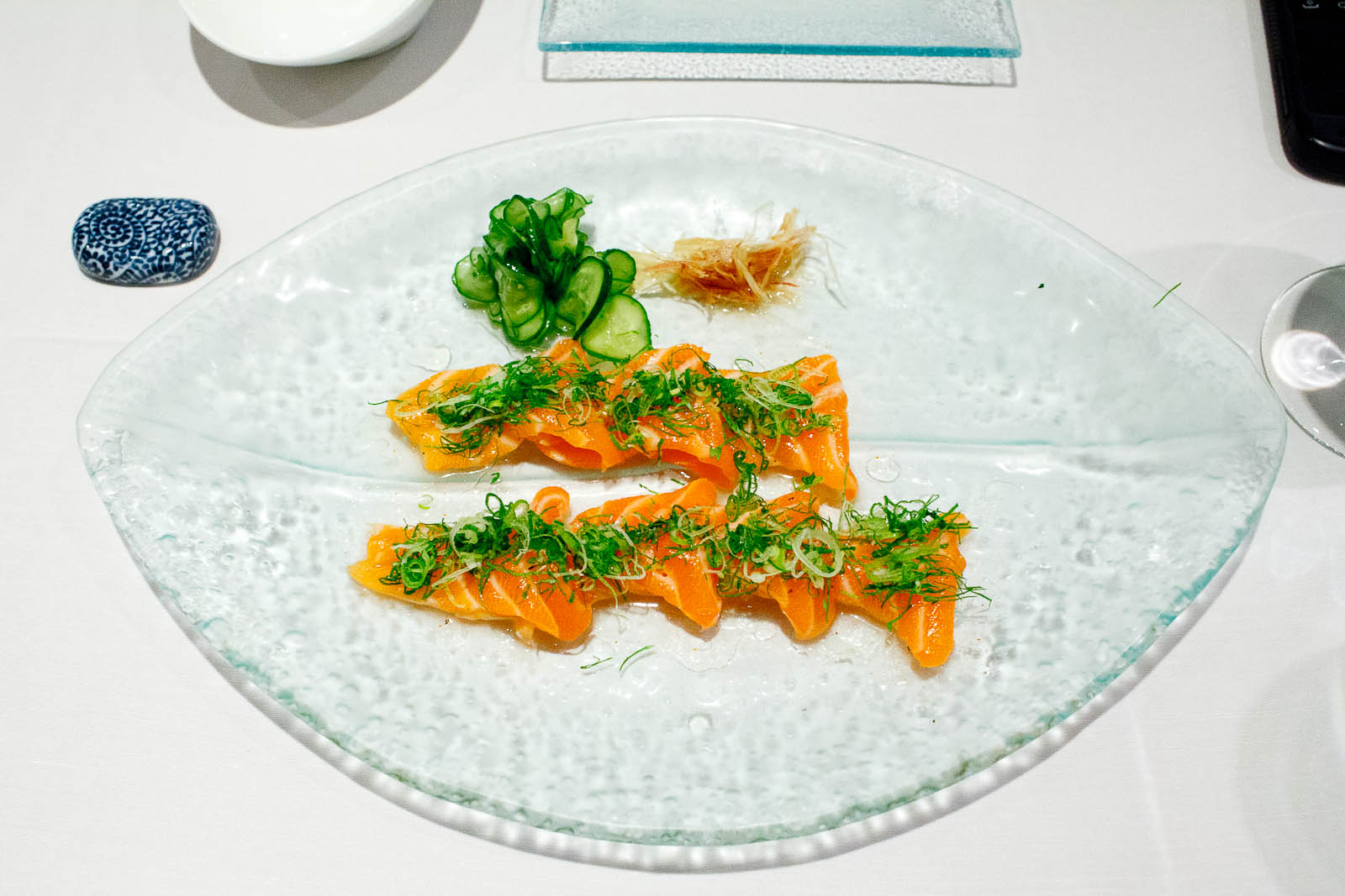 Salmon citrus - lightly cured fresh Scottish salmon with cilantr