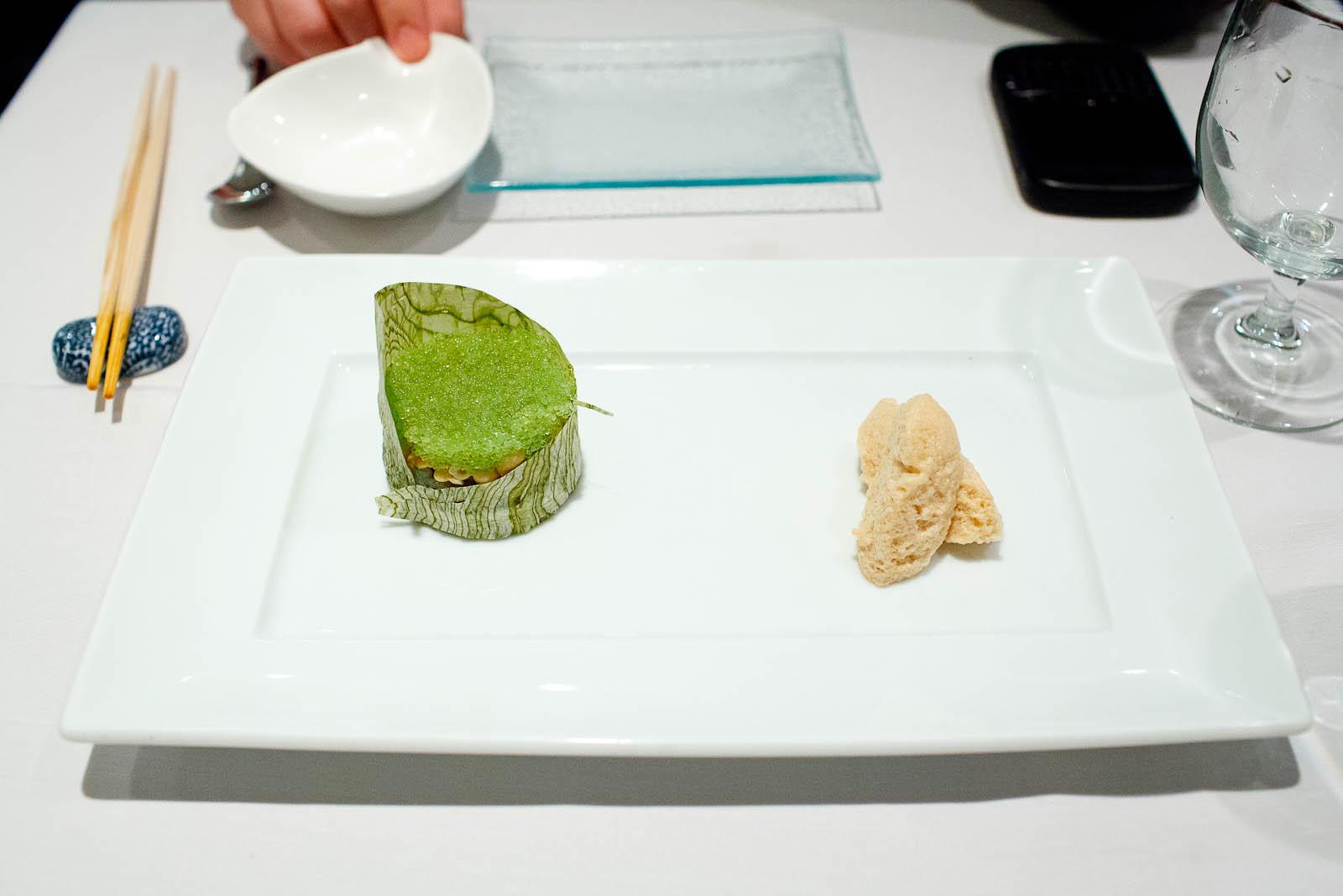 Kampachi tartare - chopped kampachi amber jack with wasabi tobik