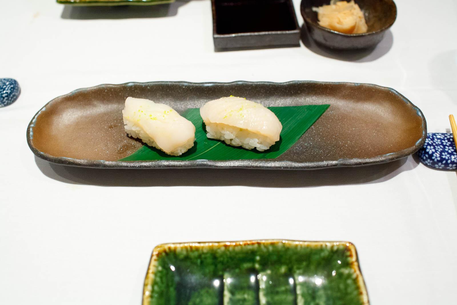 Maine scallop sushi ($5)