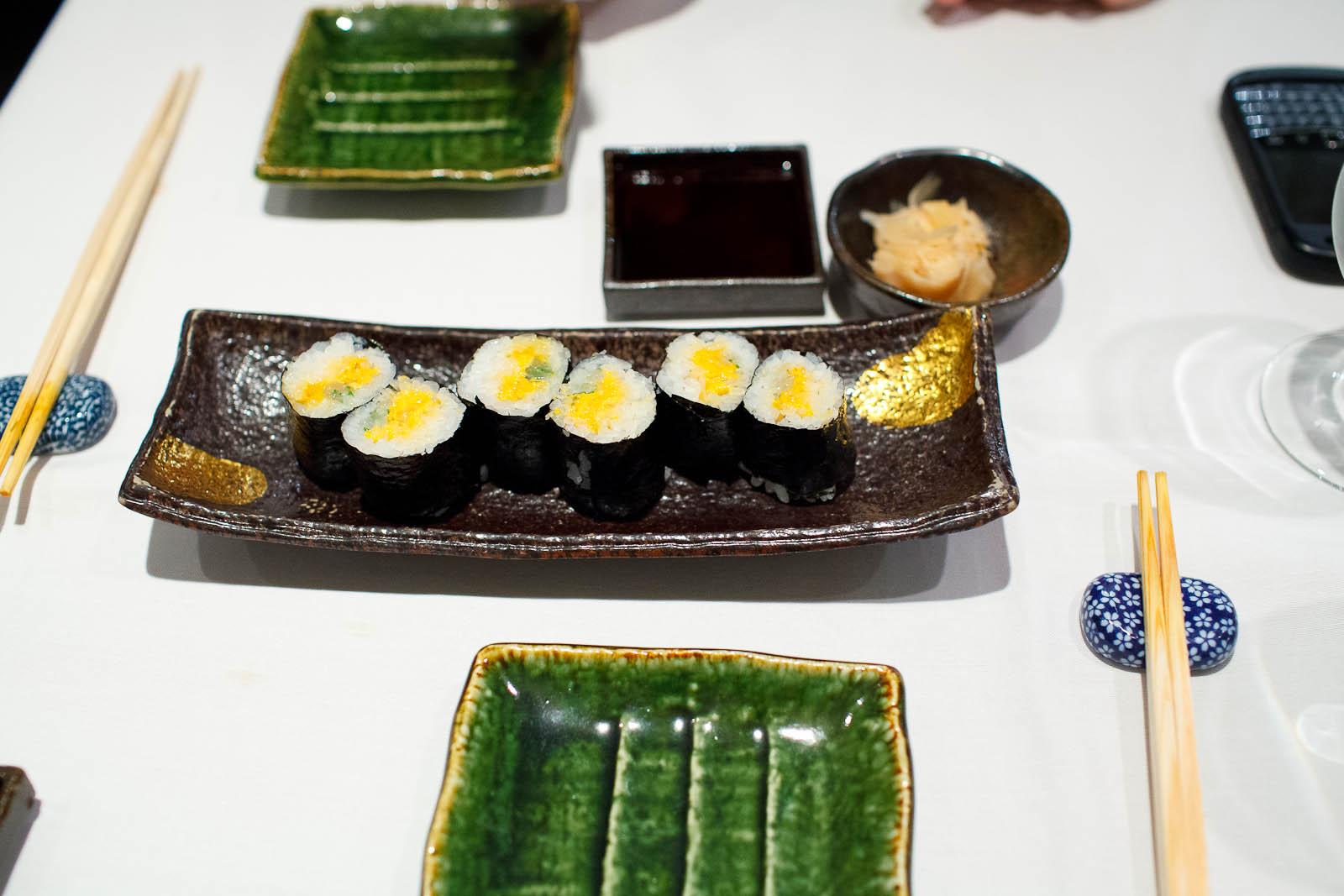 Uni and ika roll ($12)