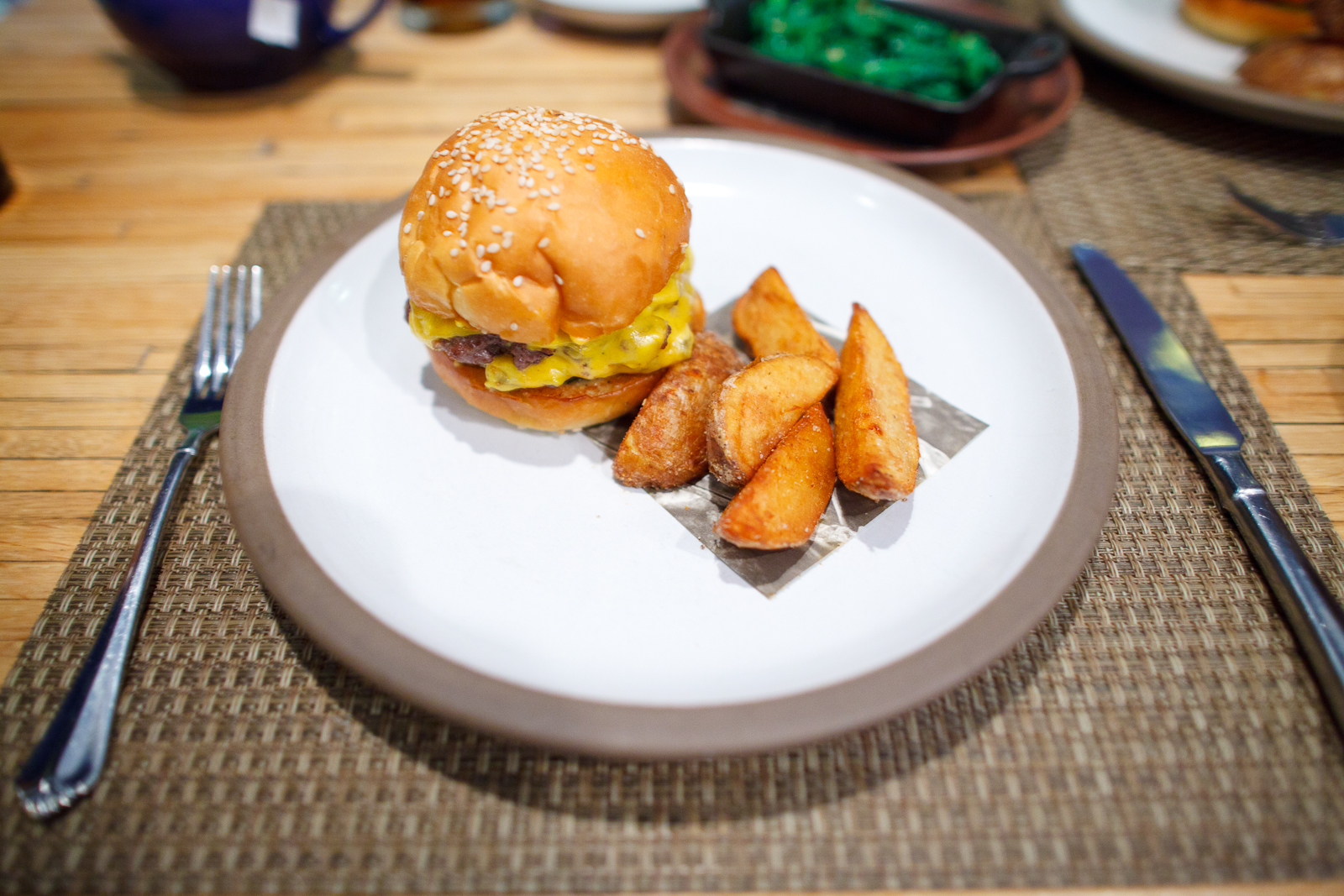 5th Course: HUSK Cheeseburger with Fried Potato Wedges