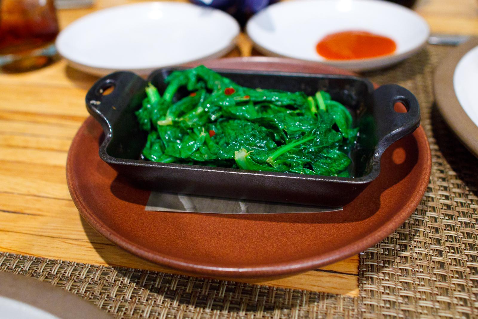 Side: Tender Broccoli Raab with Lemon, Garlic and Chilies
