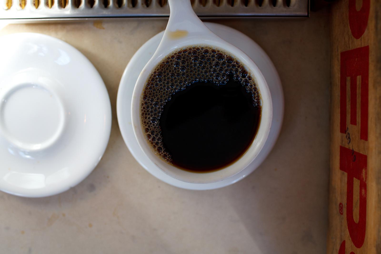Stumptown pour over coffee ($3.25)