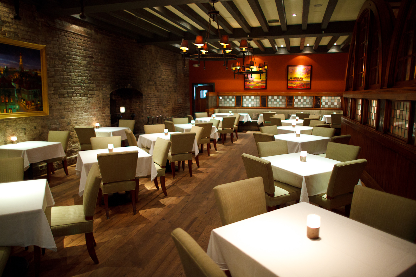 McCrady's main dining room