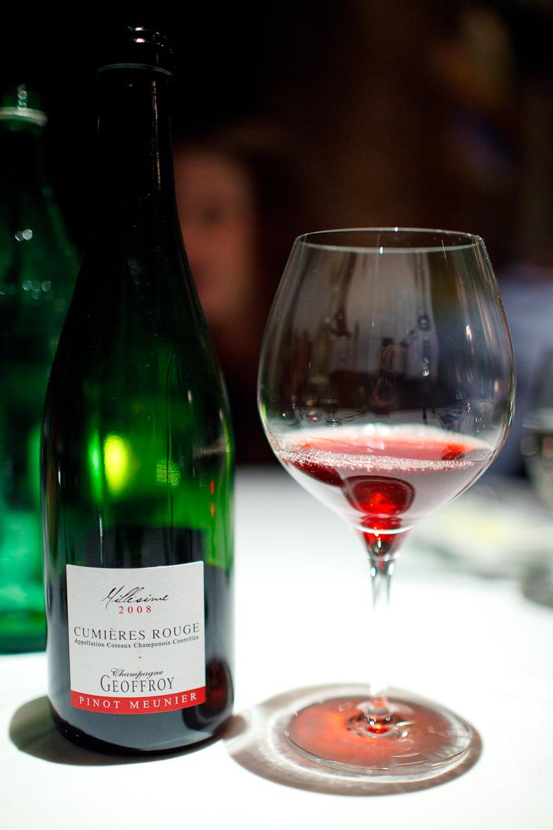 Cumières Rouge, Champagne Geoffroy 2008