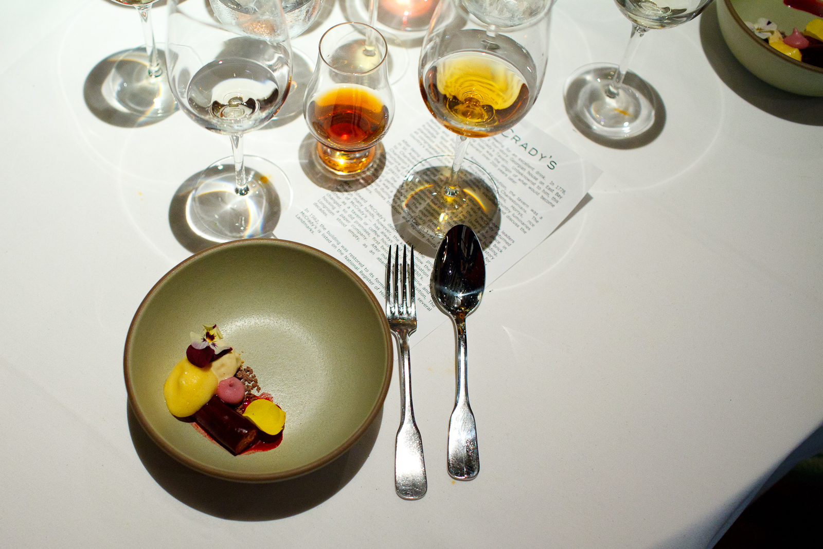 11th Course: Beet gelée with passion fruit and hazelnut