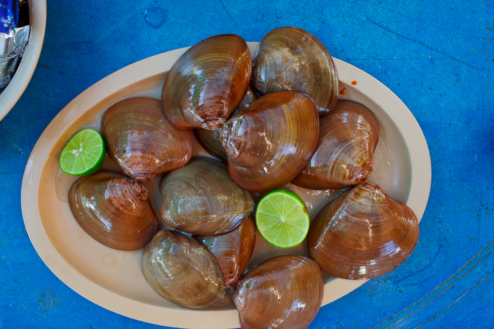 Plate of chocolate clams
