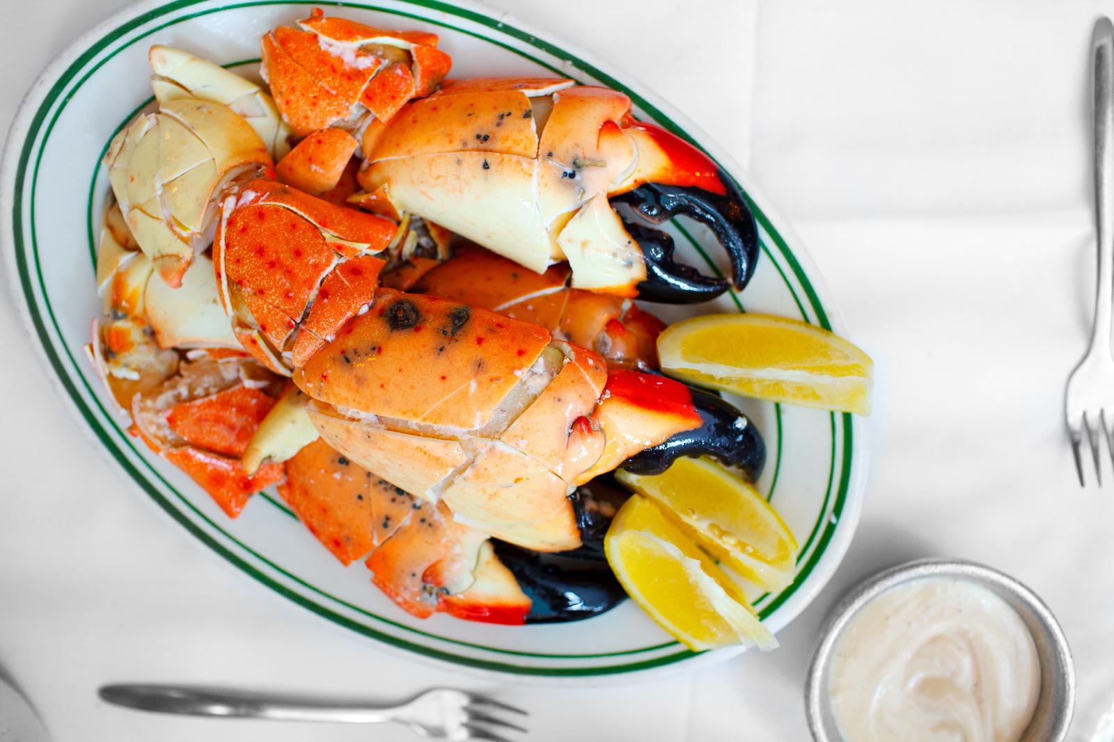 Jumbo stone crabs ($71.95)