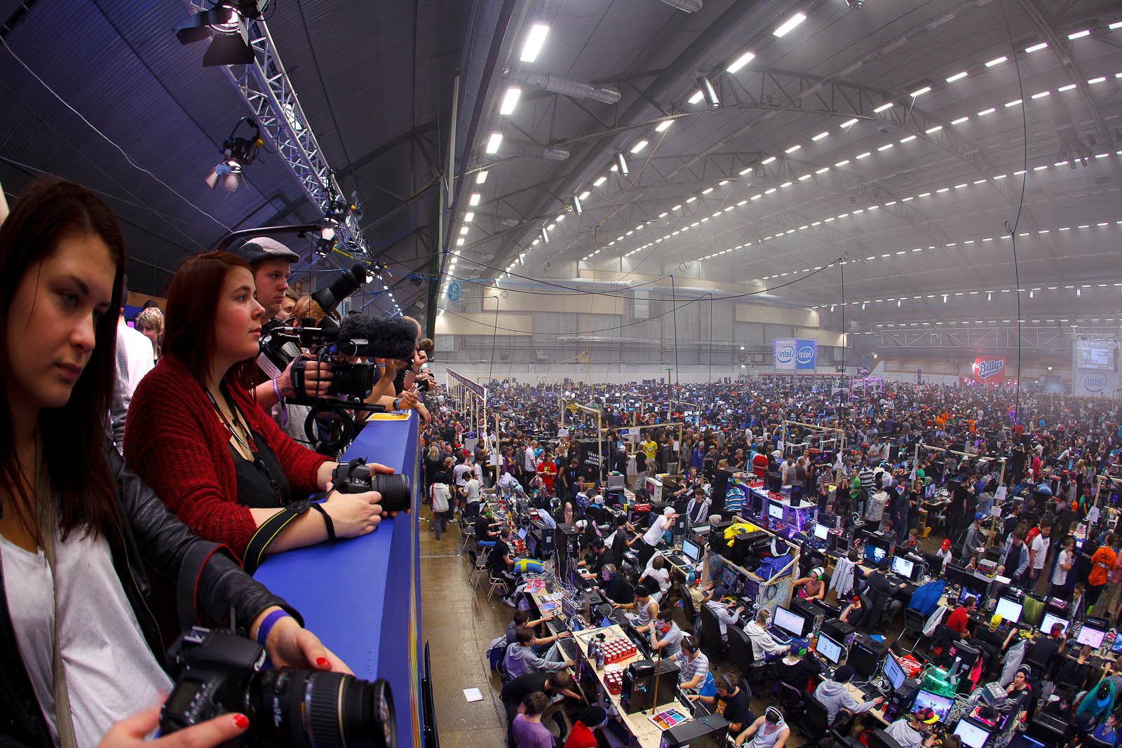 The press booth, DreamHack Winter 2011