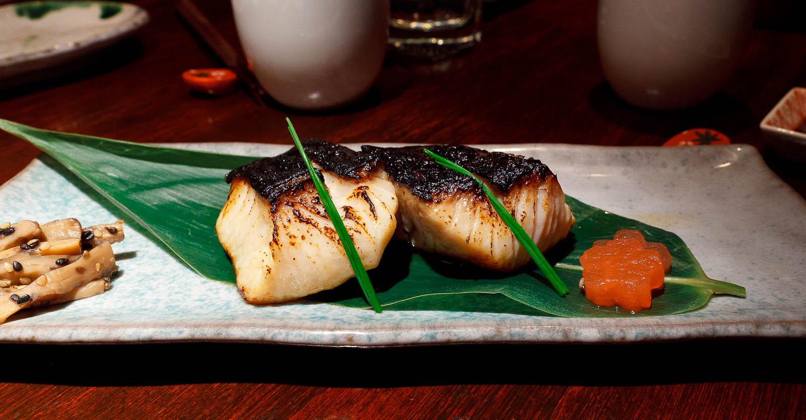 Grilled Saikyo black cod, Kyoto miso marinade ($17.95)