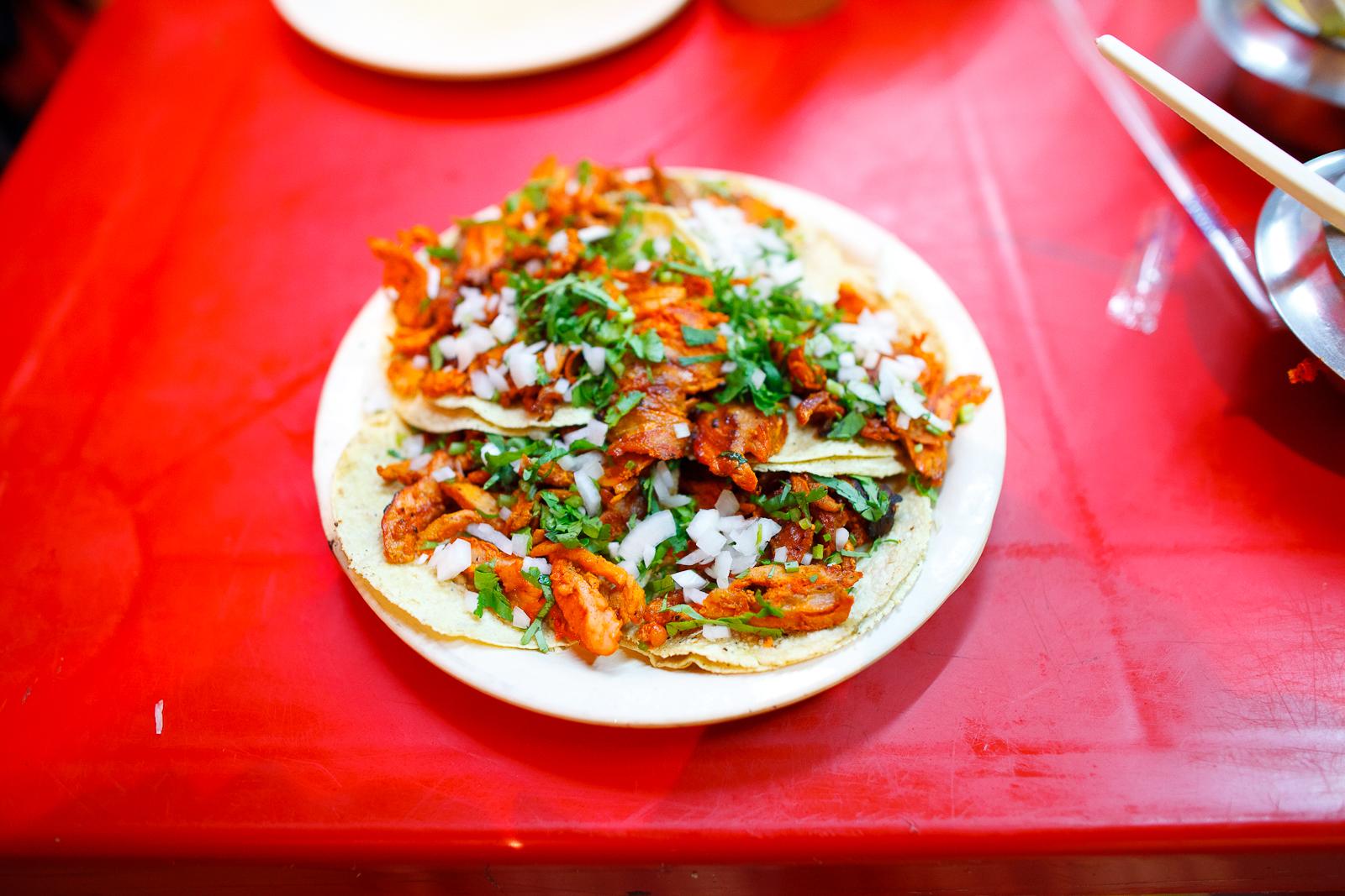 Orden de tacos al pastor (5 tacos al pastor) (35 MXP)