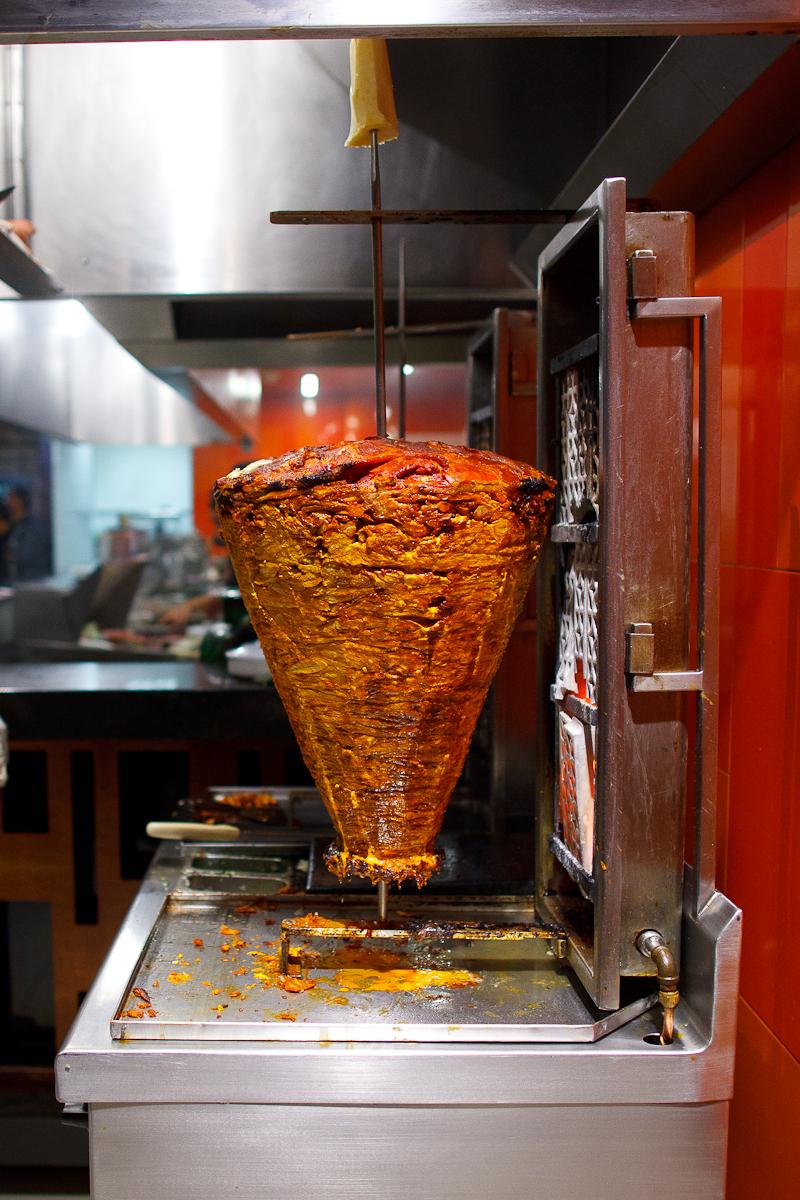 Pork spit for tacos al pastor