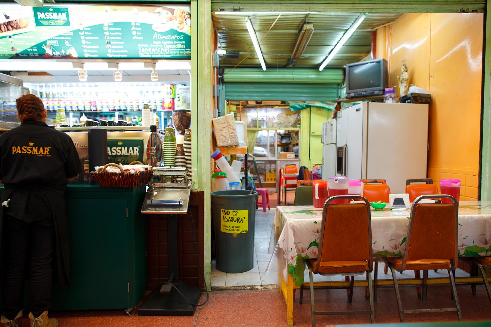 Café Passmar en el Mercado Lázaro Cárdenas