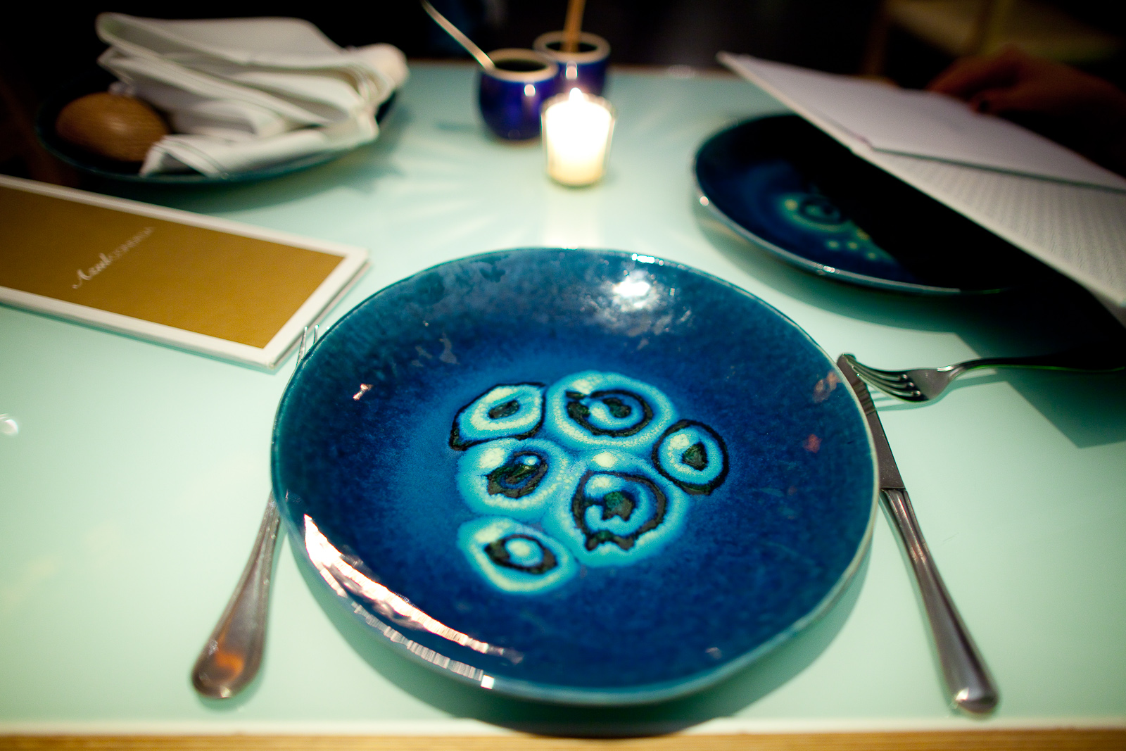 Gorgeous handmade dishware: turquoise plate