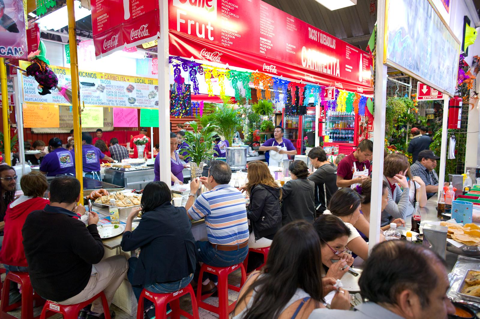 Eating in Mercado Coyoacán