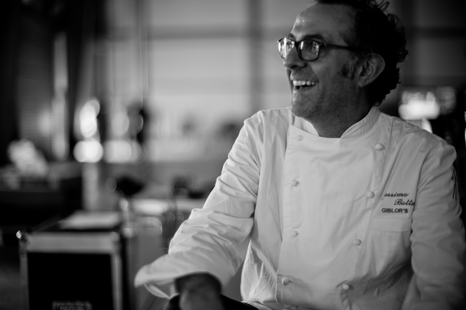 "Portrait of Chef Massimo Bottura, Osteria Francescana. ""As any fisherman will tell you, to get the best fish, you have to go deep ... don't take shortcuts."""