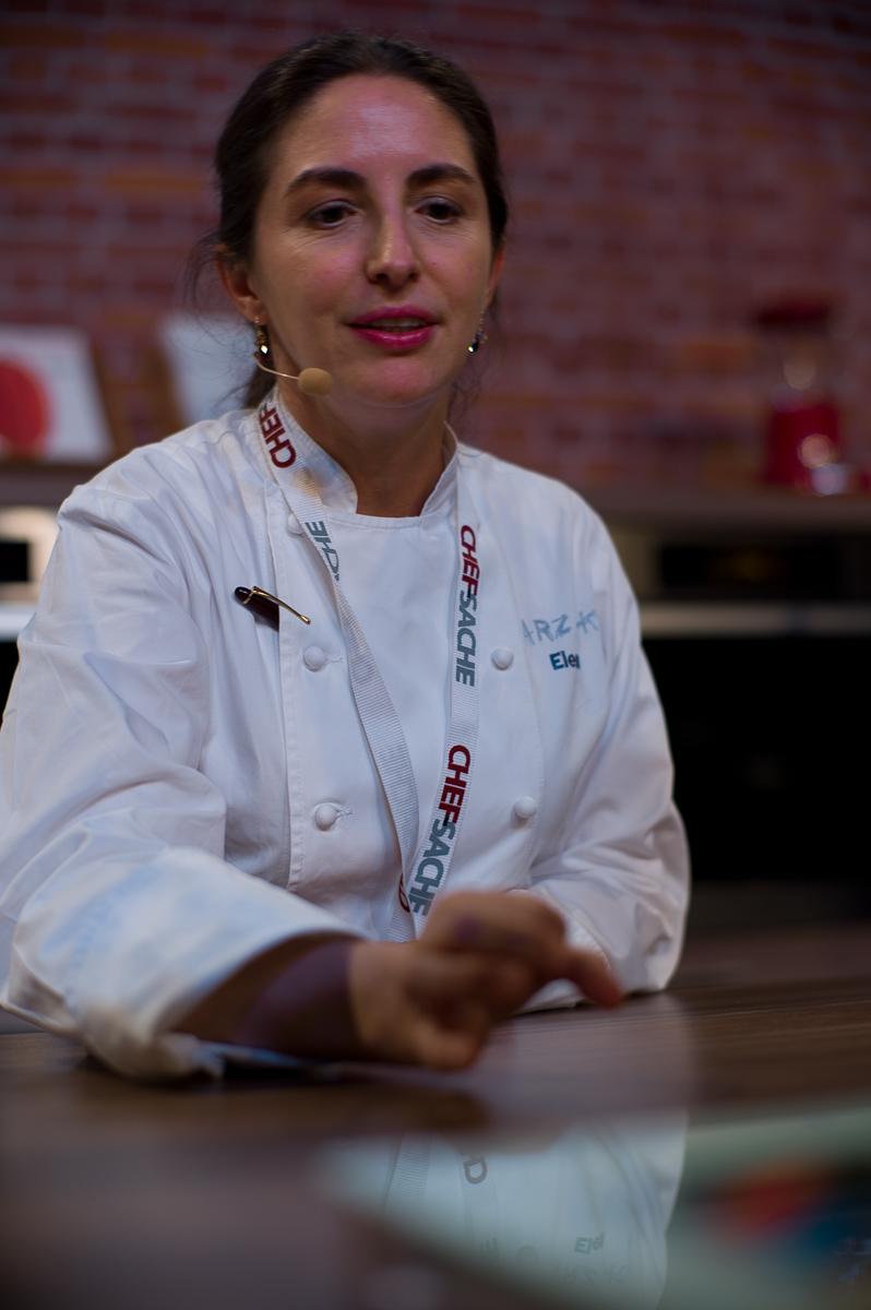 Chef Elena Arzak presents interactive (electronic) plates