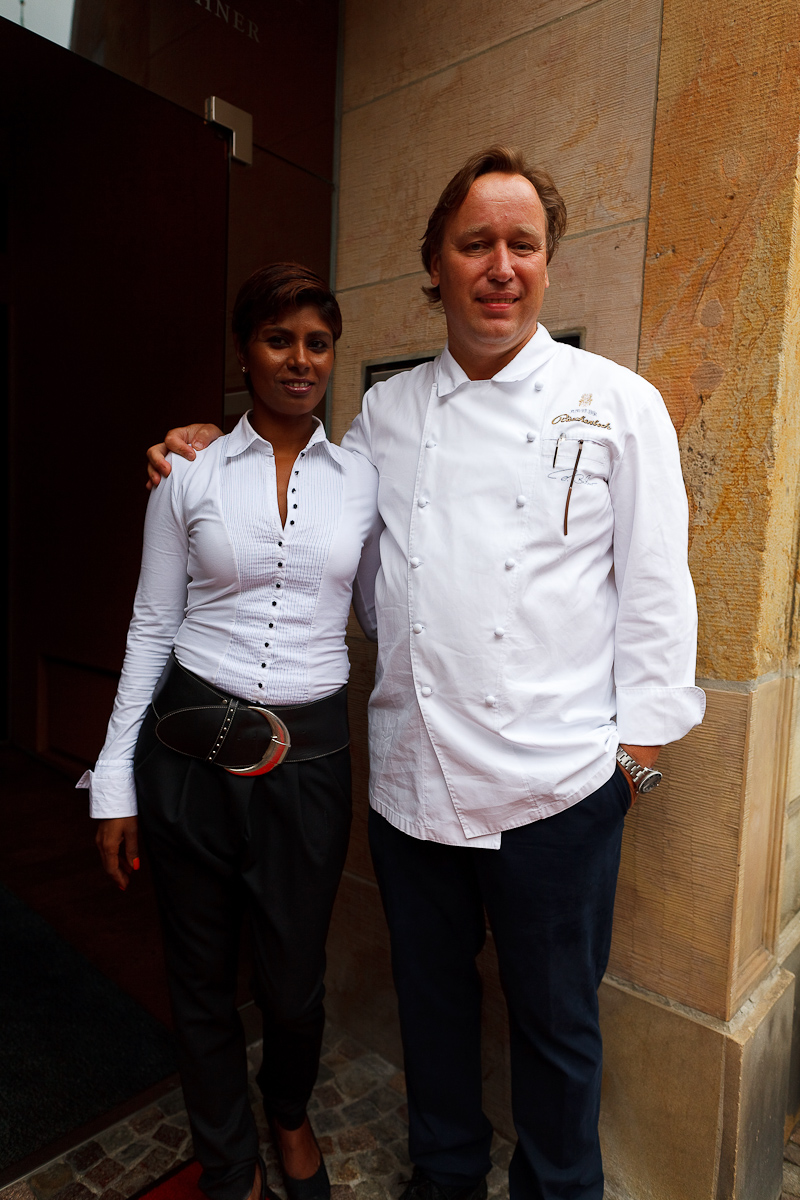 Chef Thomas Bühner and his wife