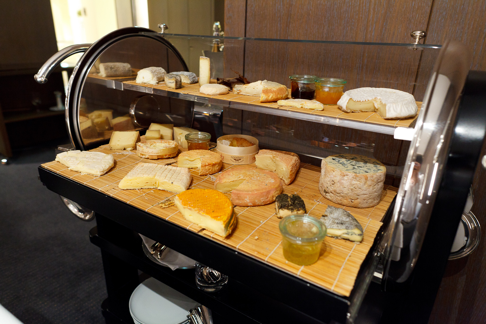 Cheese course: the cheese cart