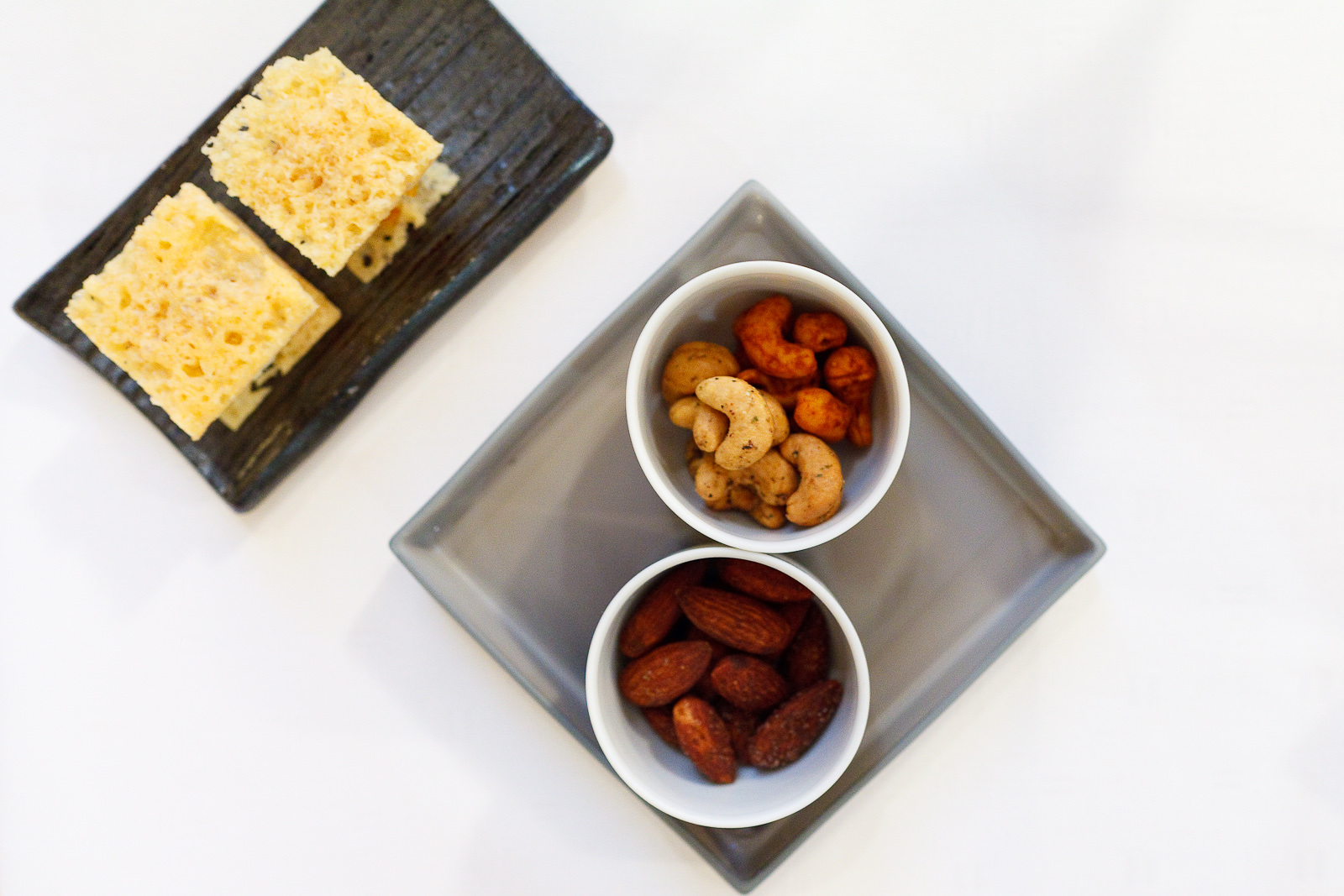 Amuse Bouche 2: Smoked and salted almonds