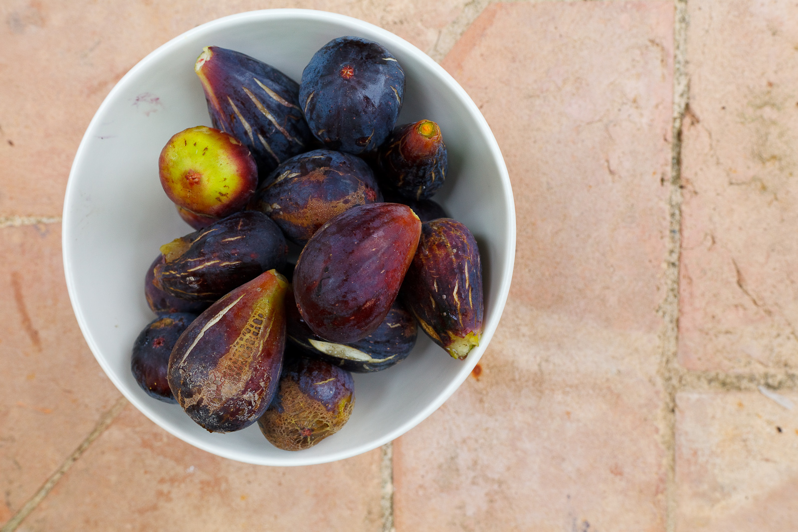 Fresh figs from a nearby tree