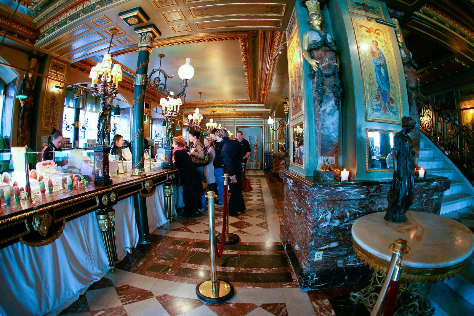 Interior of Ladurée, Champs Élysées