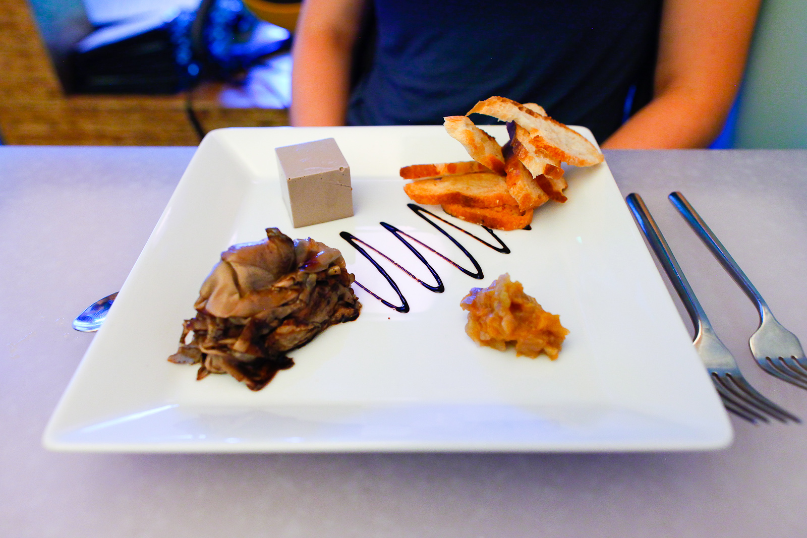 Mushroom - portobello mousse, truffled toast, pear and fennel compote ($13)