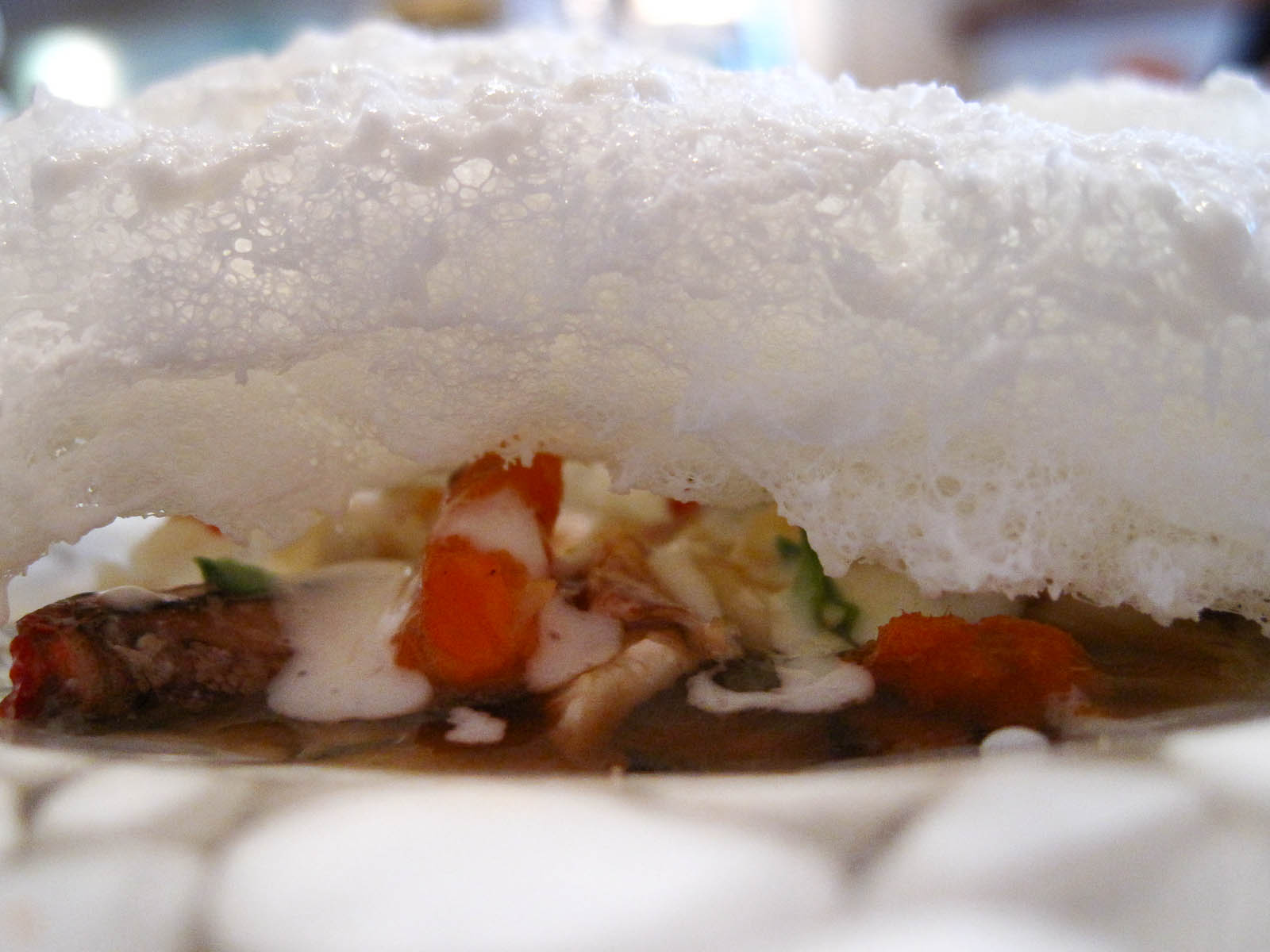 """5th Course: Iceberg, """"evoking a hit of the sea"""""""