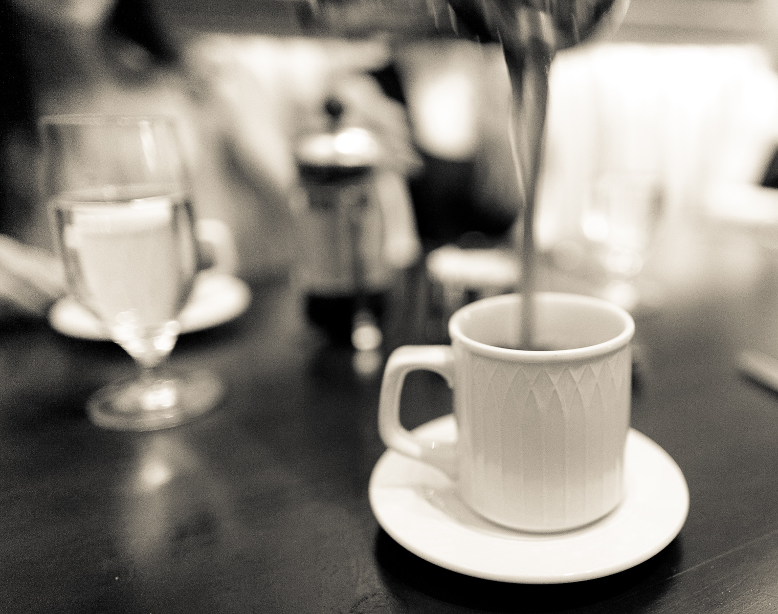 French press Sumatra Mandheling fair trade certified organic decaffeinated coffee ($4.5)