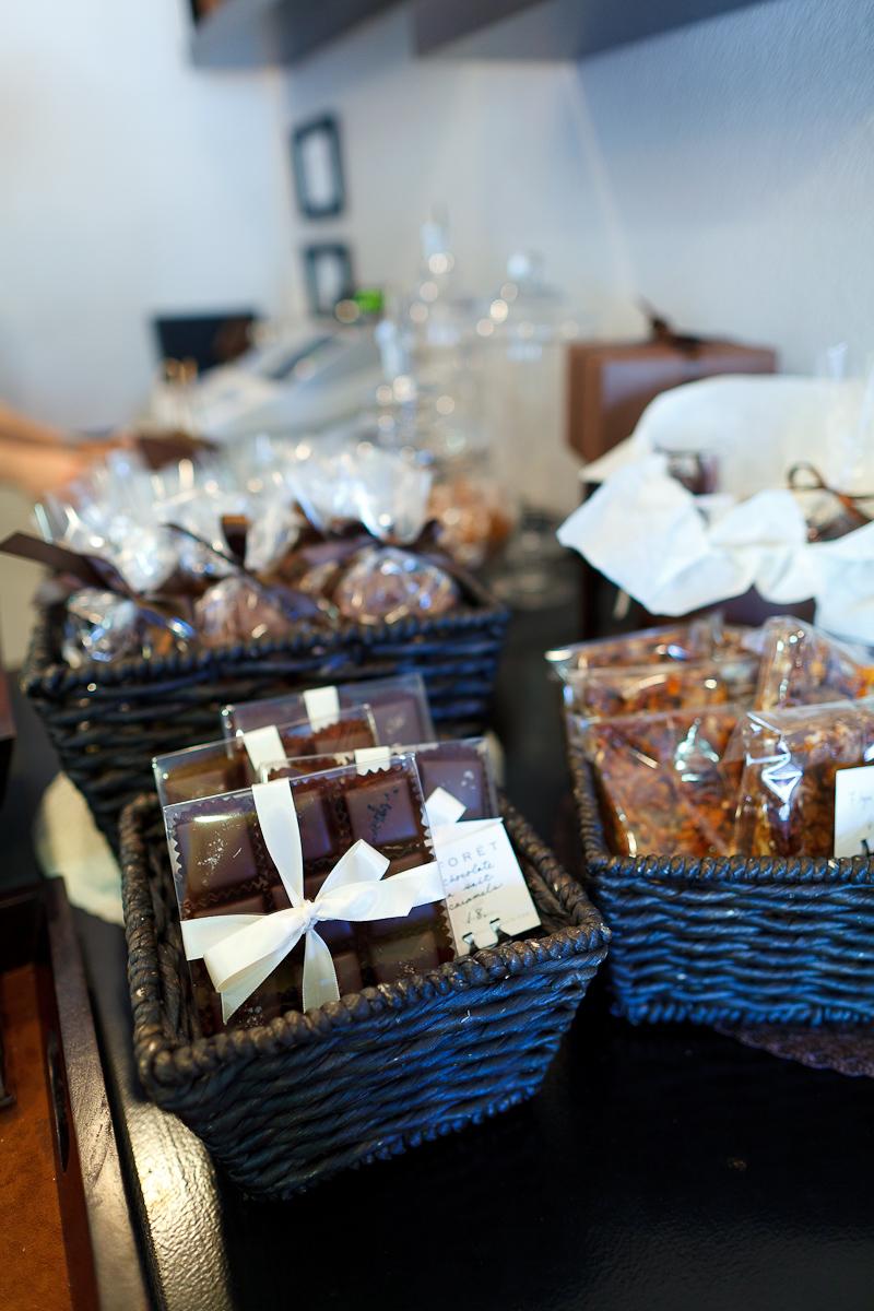 Salted chocolates, chocolate honeycomb, brownies
