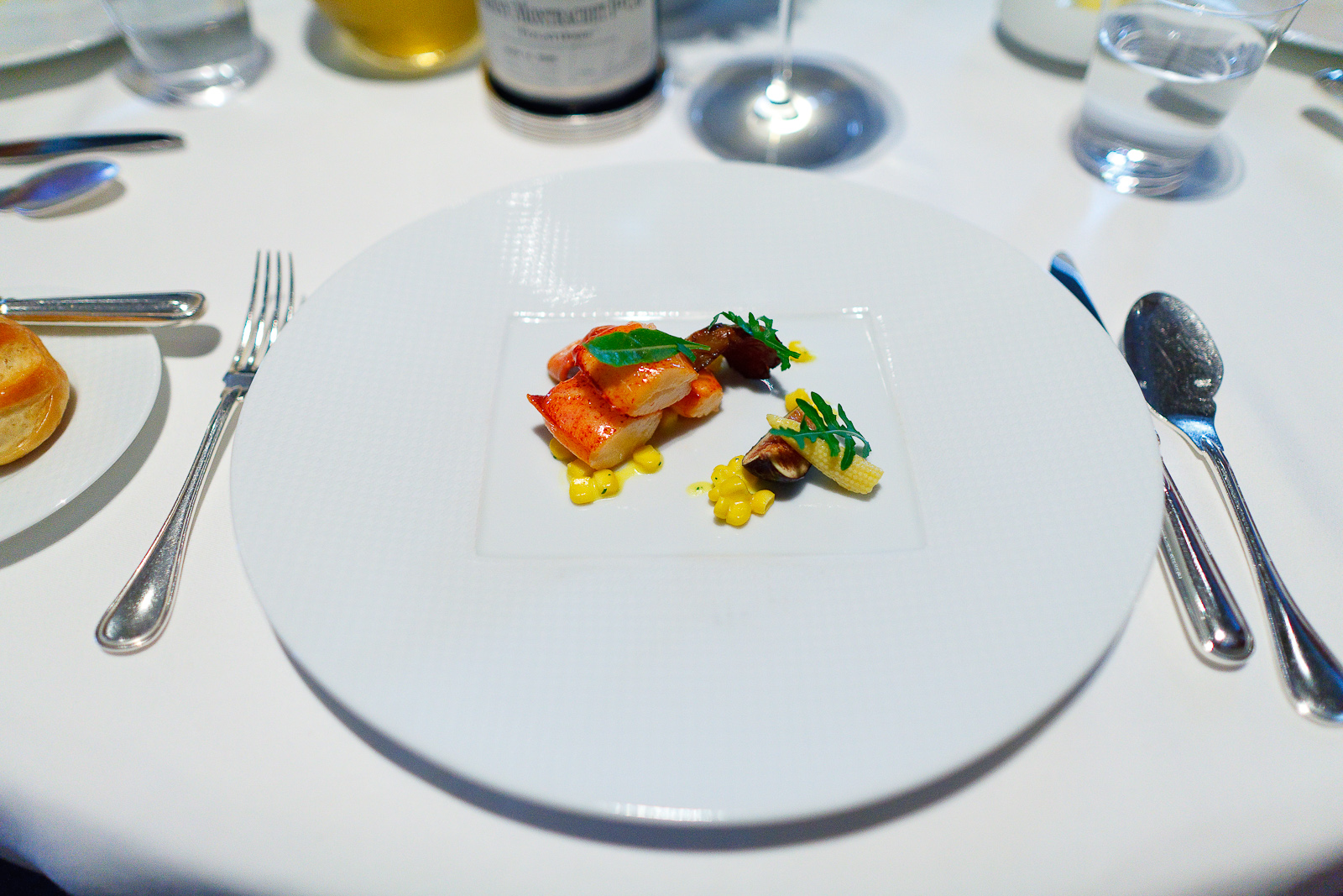 5th Course: Sweet Butter-Poached Maine Lobster Tail, Fennel Bulb, Mission Fig, Marcona Almonds and Aged Balsamic Vinegar
