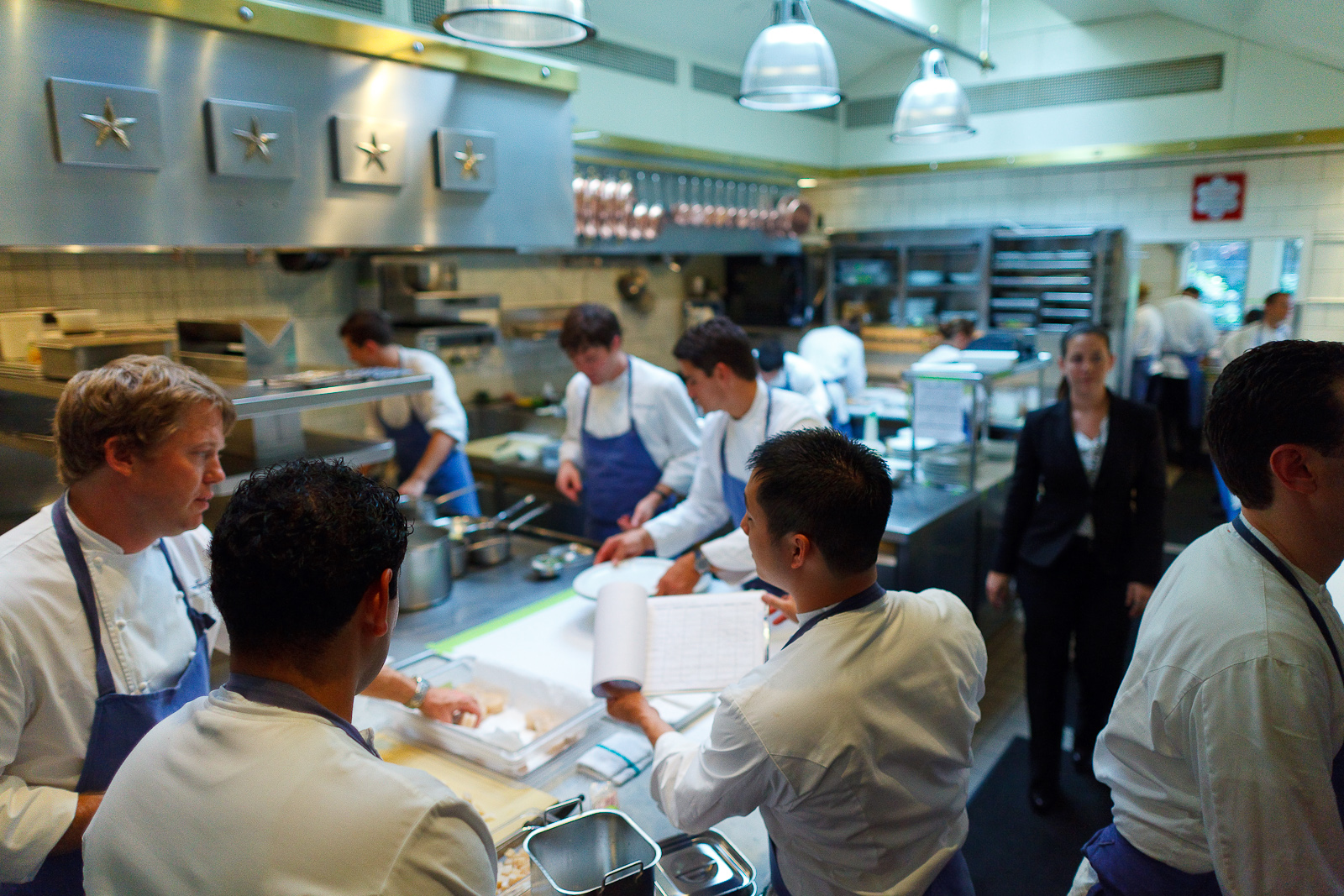 Chef de Cuisine Timothy Hollingsworth and His Staff