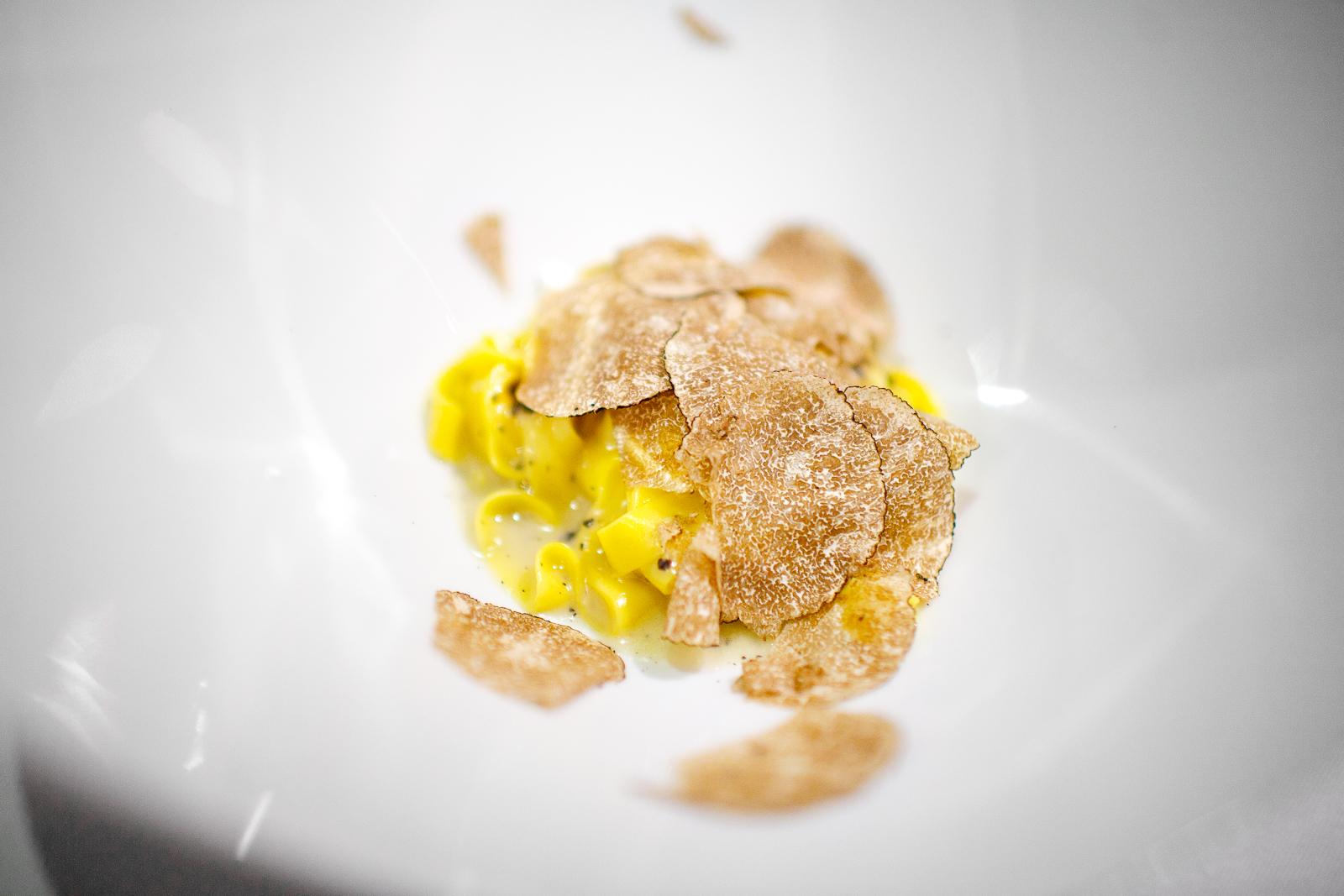 6th Course: Hand-cut tagliatelle with white truffle