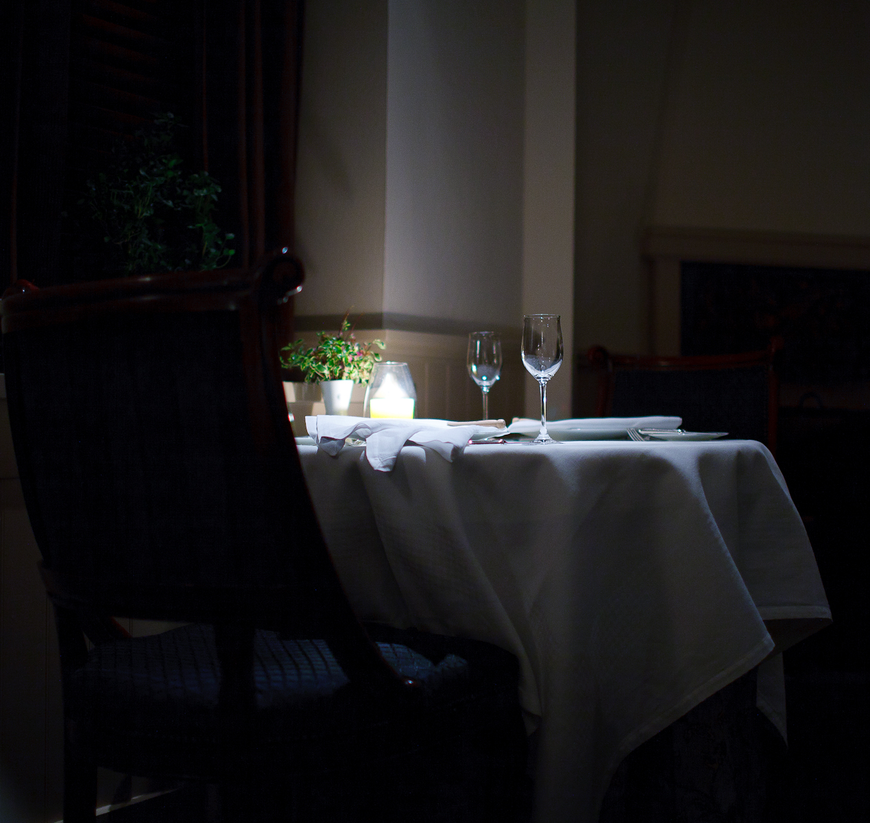 A table at The French Laundry